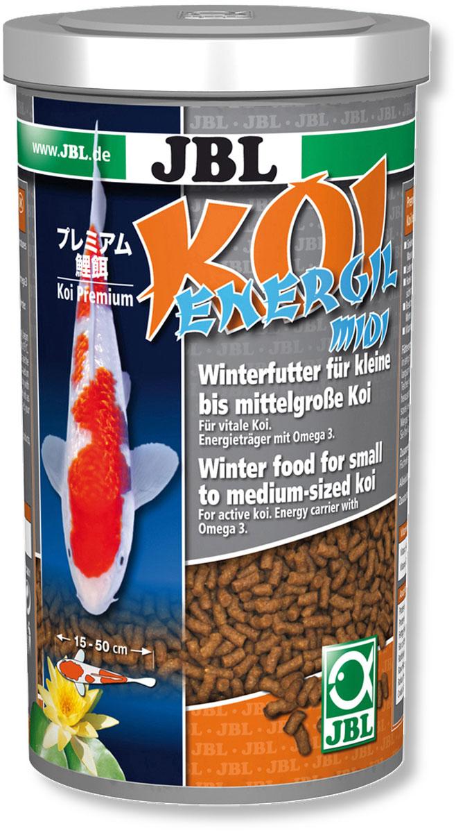 Корм JBL Koi Energil Midi для карпов Кои, в форме палочек, 600 г (1 л)JBL4030600JBL Koi Energil Midi - корм в форме палочек среднего размера предназначен для кормления карпов Кои размером 15-35 см в холодное время года. Так как карпы Кои питаются при низкой температуре на глубине, палочки корма тонут. Корм способствует предотвращению заболеваний рыб, типичных для весеннего периода. Высокая доля энергетических веществ в виде рыбьего жира (10%) с ненасыщенными жирными кислотами Омега-3 помогают рыбам пережить холодное время года. Корм предназначен для рыб длиной: 15-50 см. Рекомендации по кормлению: 2-3 раза в день в количестве, которое съедается рыбками за 2-3 минуты. Состав: растительные побочные продукты, масла и жиры, рыба и рыбные побочные продукты, моллюски и ракообразные, злаки. Анализ: белки - 19%, жир - 14%, клетчатка - 1,5%, зола - 6%. Содержание витаминов на 1 кг: Витамин А 25000 I.E., Витамин D3 2000 I.E., Витамин Е 300 мг, Витамин C (стабильный) 400 мг. Диаметр палочек...