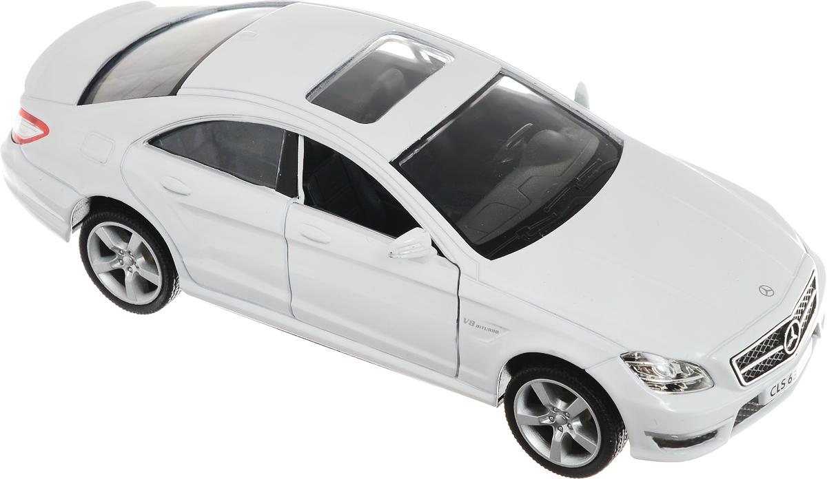 Рыжий Кот Модель автомобиля Mercedes-Benz CLS 63 AMG C218И-1231_белыйМодель автомобиля Рыжий Кот Mercedes-Benz CLS 63 AMG C218 будет отличным подарком как ребенку, так и взрослому коллекционеру. Благодаря броской внешности, а также великолепной точности, с которой создатели этой модели масштабом 1:32 передали внешний вид настоящего автомобиля, машинка станет подлинным украшением любой коллекции авто. Машинка будет долго служить своему владельцу благодаря металлическому корпусу с элементами из пластика. Передние двери машины открываются. Прорезиненные шины обеспечивают отличное сцепление с любой поверхностью пола. Машинка оснащена инерционным механизмом: достаточно немного отвести машинку назад, а затем отпустить, и она быстро поедет вперед. Модель автомобиля Рыжий Кот Mercedes-Benz CLS 63 AMG C218 обязательно понравится вашему ребенку и станет достойным экспонатом любой коллекции.