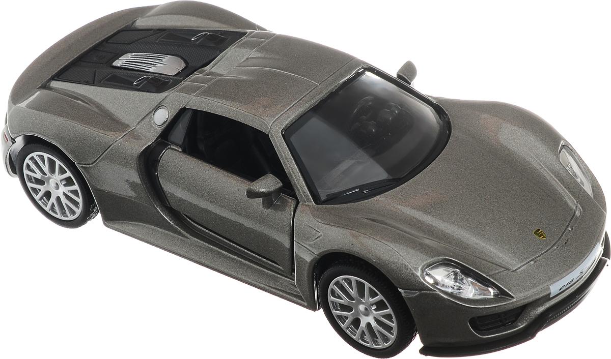 Рыжий Кот Модель автомобиля Porsche 918 SpyderИ-1230_серыйМодель автомобиля Рыжий Кот Porsche 918 Spyder будет отличным подарком как ребенку, так и взрослому коллекционеру. Благодаря броской внешности, а также великолепной точности, с которой создатели этой модели масштабом 1:32 передали внешний вид настоящего автомобиля, машинка станет подлинным украшением любой коллекции авто. Машинка будет долго служить своему владельцу благодаря металлическому корпусу с элементами из пластика. Двери машины открываются. Прорезиненные шины обеспечивают отличное сцепление с любой поверхностью пола. Машинка оснащена инерционным механизмом: достаточно немного отвести машинку назад, а затем отпустить, и она быстро поедет вперед. Модель автомобиля Рыжий Кот Porsche 918 Spyder обязательно понравится вашему ребенку и станет достойным экспонатом любой коллекции.