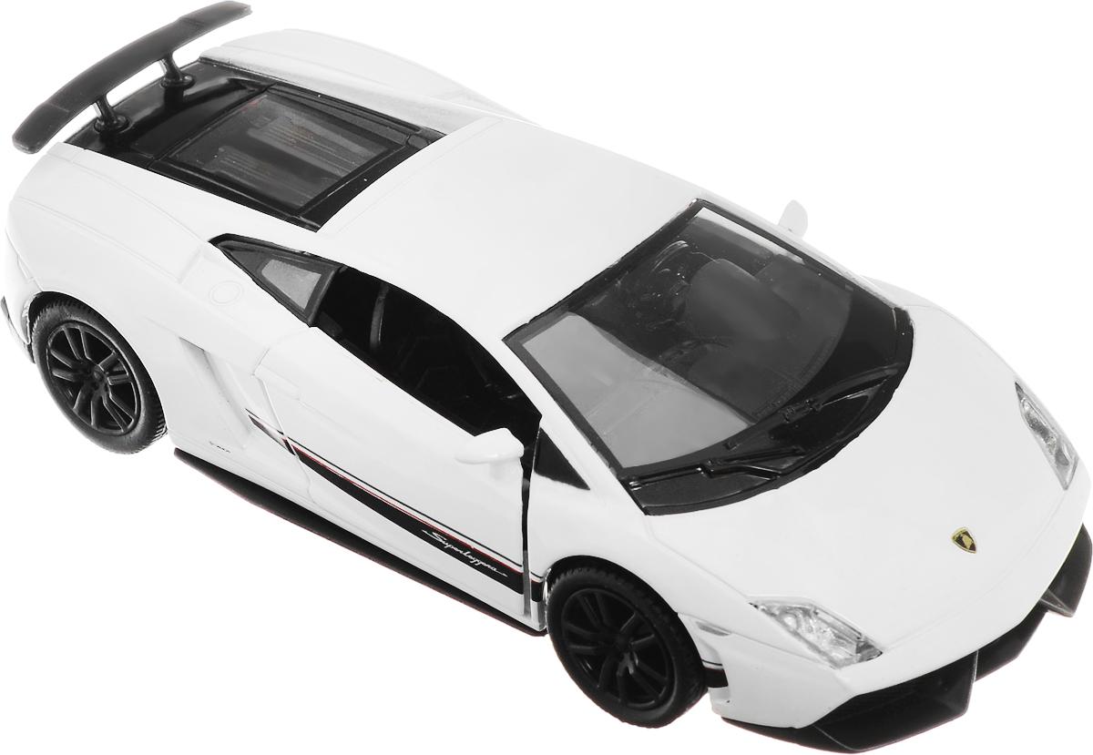 Рыжий Кот Модель автомобиля Lamborghini Gallardo LP 570-4 SuperleggeraИ-1204_белыйМодель автомобиля Рыжий Кот Lamborghini Gallardo LP 570-4 Superleggera будет отличным подарком как ребенку, так и взрослому коллекционеру. Благодаря броской внешности, а также великолепной точности, с которой создатели этой модели масштабом 1:32 передали внешний вид настоящего автомобиля, машинка станет подлинным украшением любой коллекции авто. Машинка будет долго служить своему владельцу благодаря металлическому корпусу с элементами из пластика. Двери машины открываются. Прорезиненные шины обеспечивают отличное сцепление с любой поверхностью пола. Машинка оснащена инерционным механизмом: достаточно немного отвести машинку назад, а затем отпустить, и она быстро поедет вперед. Модель автомобиля Рыжий Кот Lamborghini Gallardo LP 570-4 Superleggera обязательно понравится вашему ребенку и станет достойным экспонатом любой коллекции.