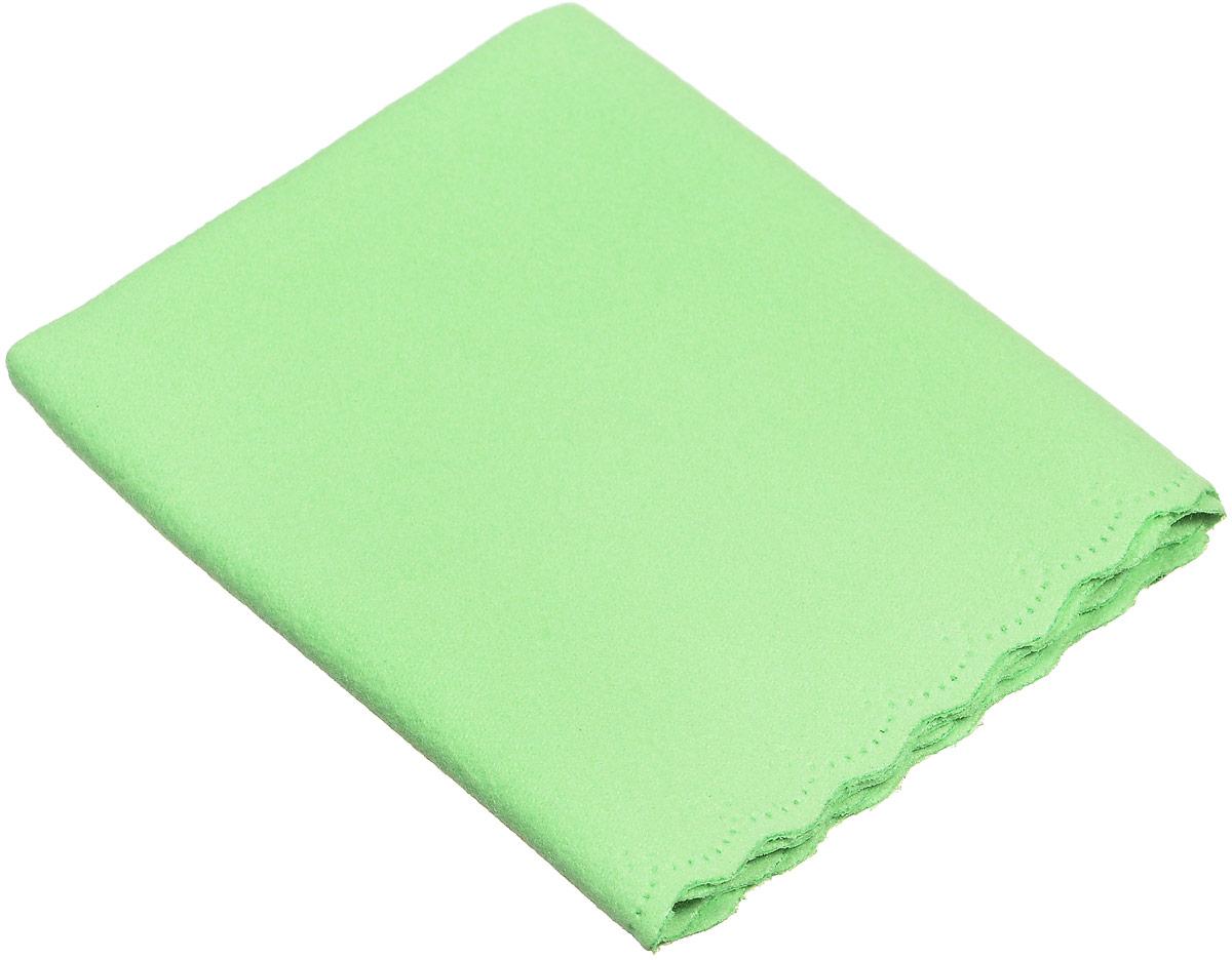 Proffi Home Салфетка для очков из микрофибры, цвет: салатовый