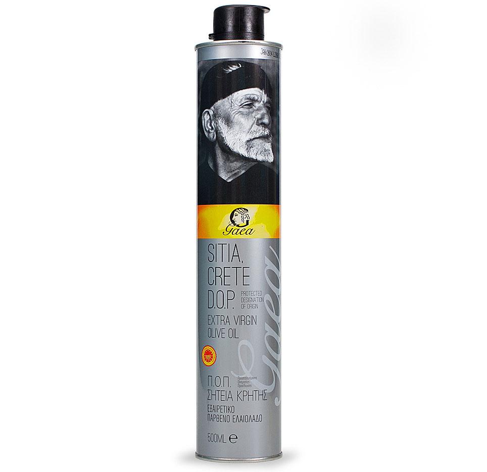 Gaea Sitia Crete D.O.P. Extra Virgin масло оливковое, 0,5 л0370026Оливковое масло Gaea Sitia Crete D.O.P. Extra Virgin добывается в знаменитом регионе Сития на острове Крит. На острове уже около 5000 лет сохраняется уникальный микроклимат для выращивания качественных оливок, которые обрабатываются исключительно механическими методами (холодный отжим) для получения уникальных характеристик и свежего аромата.