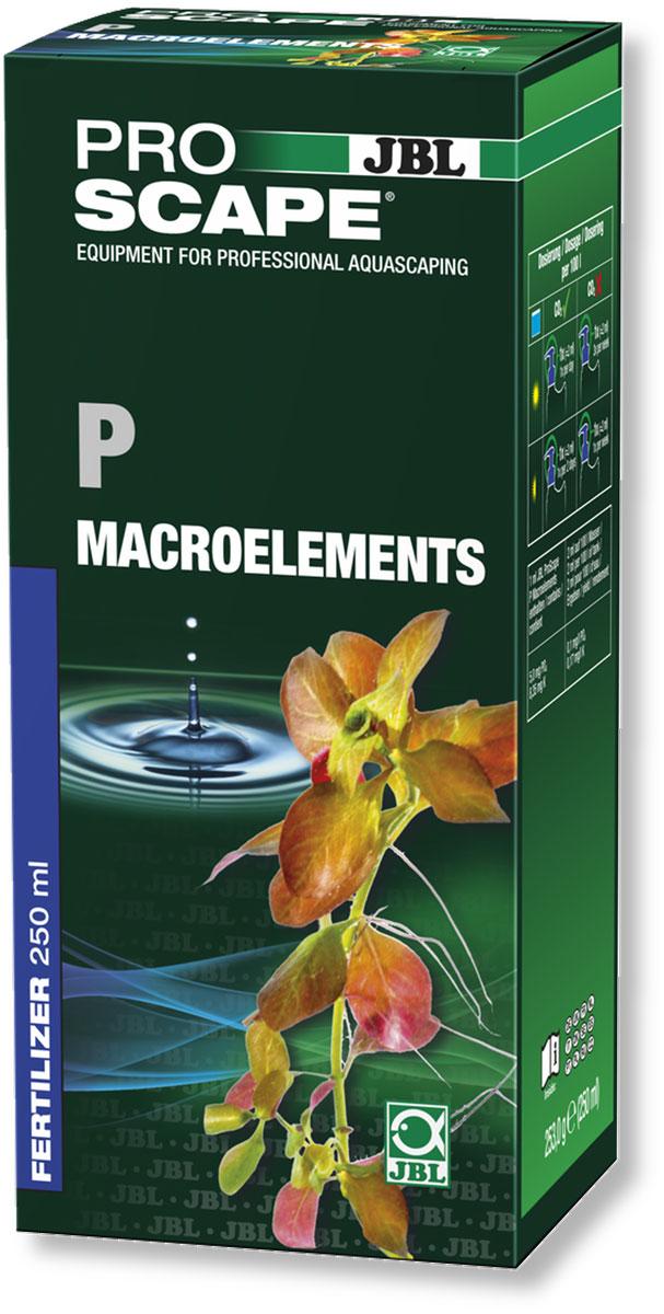 Удобрение для аквариумных растений JBL P Macroelements, фосфатное, с дозатором, 250 млJBL2111800Фосфатное удобрение JBL P Macroelements предназначено для растительных аквариумов с небольшим количеством рыб или без рыб, таких как нано-аквариумы и акваскейпинговые аквариумы. Удобрение содержит калий в доступной для растений форме. Базовая дозировка для хорошо освещенных аквариумов с подачей CO2: 2 мл/100 л. Рекомендуемое содержание фосфатов в аквариумной воде: 0,1-1,5 мг/л. Правильность дозировки необходимо контролировать при помощи теста JBL Phosphate Test. Бутылка и крышка оснащены мерными делениями. В комплект входит дозатор на 2 мл, который можно привинчивать вместо колпачка. Объем: 250 мл.