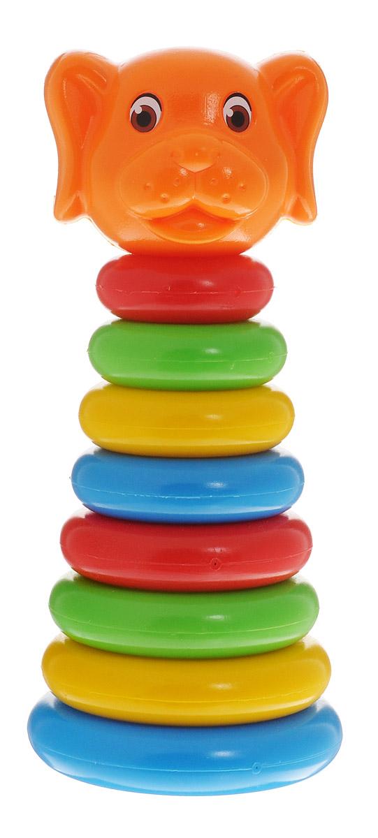 ГринПласт Пирамидка Собачка1109579Яркая пирамидка Собачка понравится вашему малышу и надолго займет его внимание. Игрушка состоит из основания, на которое нанизываются цветные колечки разного диаметра и вершина в виде головы собачки. Все элементы выполнены высококачественных материалов, которые совершенно безопасны для здоровья вашего ребенка! В процессе сборки пирамидки у ребенка развиваются внимание, память, логика, мелкая моторика рук и воображение.