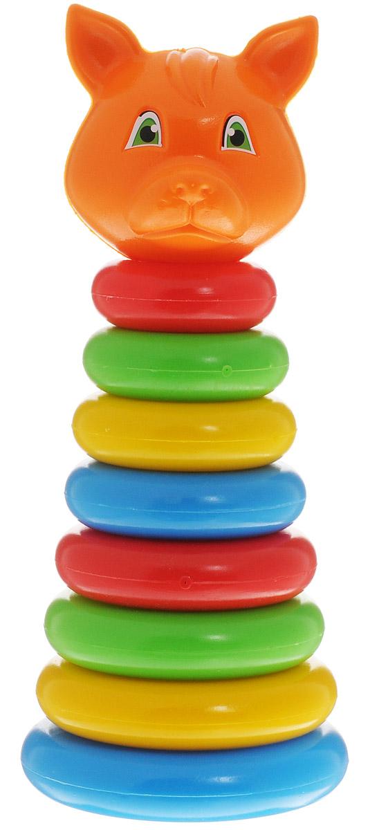 ГринПласт Пирамидка ЛисичкаПЖЛ008, 1109577Яркая пирамидка Лисичка понравится вашему малышу и надолго займет его внимание. Игрушка состоит из основания, на которое нанизываются цветные колечки разного диаметра и вершина в виде головы лисички. Все элементы выполнены высококачественных материалов, которые совершенно безопасны для здоровья вашего ребенка! В комплекте: основание, 8 разноцветных колец, фигурка лисы. В процессе сборки пирамидки у ребенка развиваются внимание, память, логика, мелкая моторика рук и воображение.