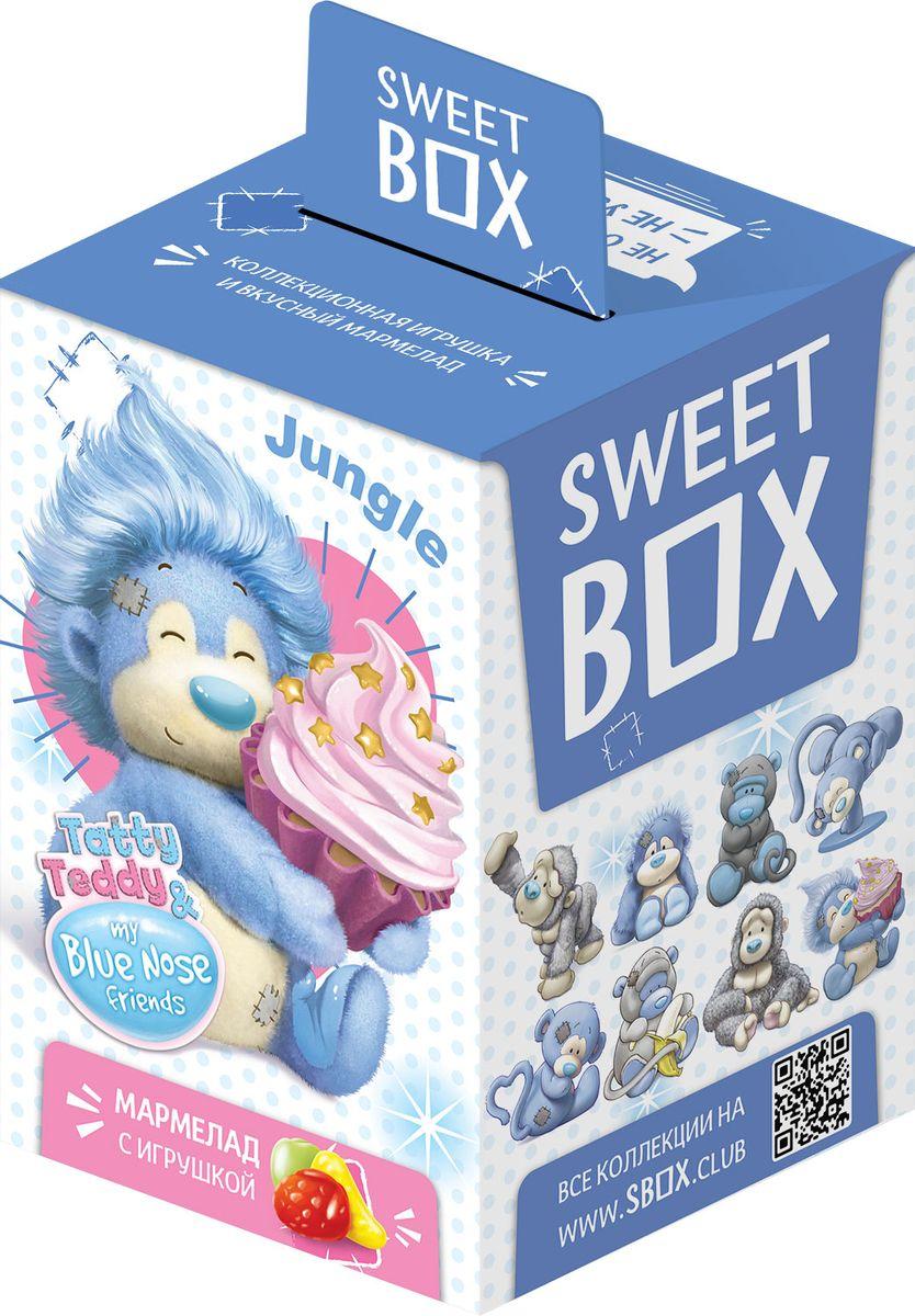 SweetBox Обезьянки мармелад с игрушкой в коробочке, 10 г