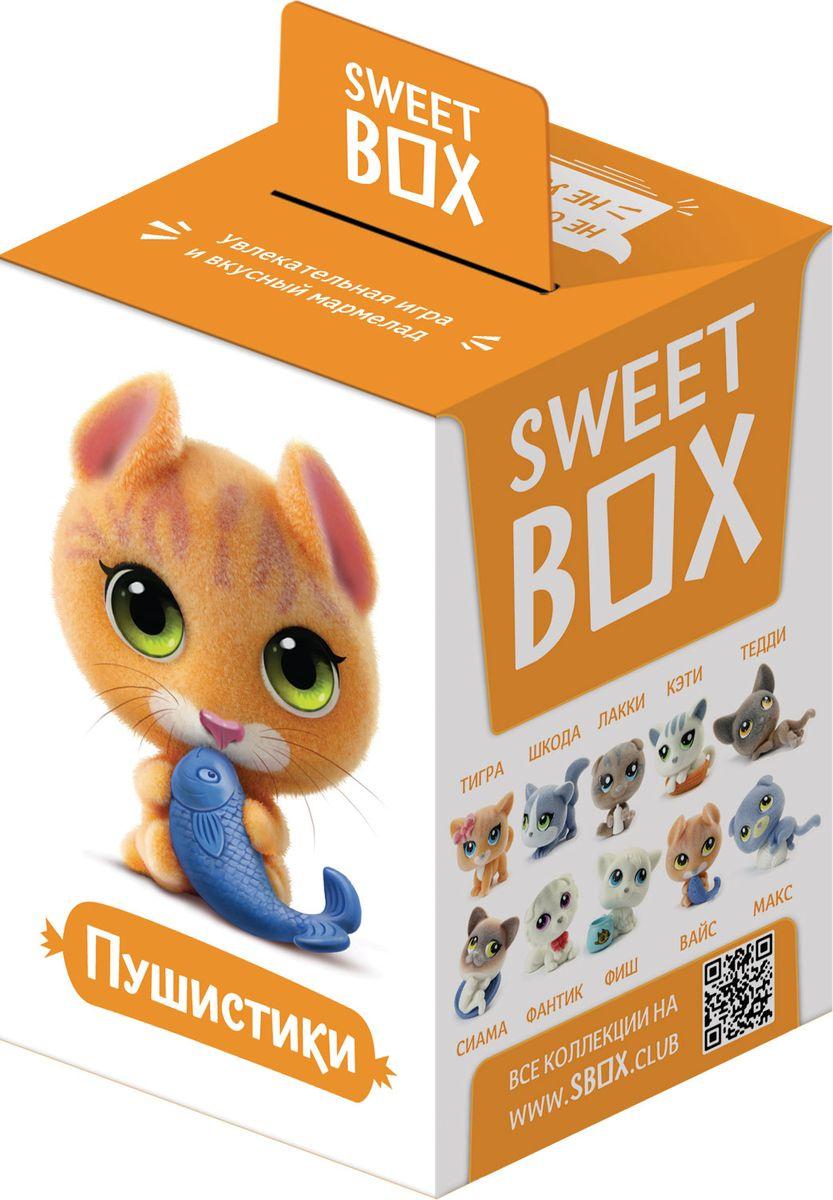 SweetBox Пушистики мармелад с игрушкой в коробочке Котята, 10 г