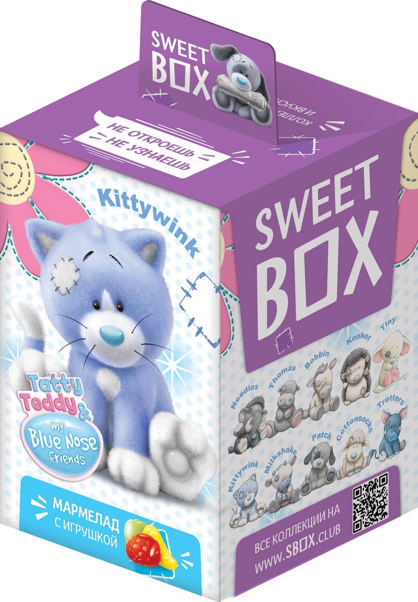 SweetBox My Blue Nose Friends зверята мармелад с игрушкой в коробочке, 10 гУТ18236Голубые носы, лоскутные заплатки и чарующее обаяние! 10 милых зверят!