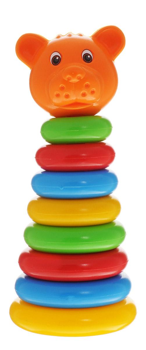 ГринПласт Пирамидка МишкаПЖМ008Яркая пирамидка Мишка понравится вашему малышу и надолго займет его внимание. Игрушка состоит из основания, на которое нанизываются цветные колечки разного диаметра и вершина в виде головы мишки. Все элементы выполнены высококачественных материалов, которые совершенно безопасны для здоровья вашего ребенка! В процессе сборки пирамидки у ребенка развиваются внимание, память, логика, мелкая моторика рук и воображение.