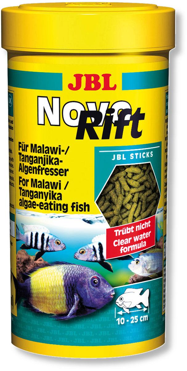Корм JBL NovoRift для восточноафриканских цихлид, в форме палочек, 250 мл (133 г)JBL3029300Корм JBL NovoRift содержит преимущественно отборные растительные вещества, объединенные в специальной комбинации, которая соответствует питательным потребностям цихлид из восточноафриканских озер. Корм особенно охотно поедается рыбами благодаря своей форме в виде маленьких палочек. Ценные витамины, ненасыщенные жирные кислоты и каротиноиды укрепляет иммунитет, способствует росту и более яркой окраске. Идеальный размер корма для рыб от 10 до 25 см. - Содержит 90% растительного и 10% животного белка; - Соответствует естественным потребностям таких рыб, как трофеусы, псевдотрофеусы; - Высокое содержание водоросли спирулина, богатой белком; - Содержит натуральный витамин Е в качестве антиоксиданта. Рекомендации по кормлению: корм может даваться несколько раз ежедневно, однако небольшими порциями, которые могут съедаться в течение нескольких минут. Состав: овощи, зерновые, водоросли, дрожжи, рачки, минералы. Белок 31%, жир 3%, клетчатка...
