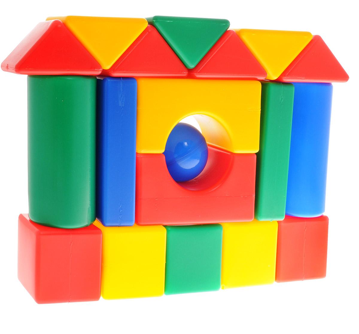 ГринПласт Конструктор Мой Городок КСТ0019КСТ0019Яркий конструктор Мой городок привлечет внимание вашего ребенка и не позволит ему скучать. Это яркие, вариативные по форме и размерам детали, которые могут послужить материалом для создания целого городка, домика и всего, что ему подскажет фантазия. Из кубиков можно построить оригинальные здания и башни, выдумывать новые игры и формы. Элементы конструктора крупные, поэтому ребенку будет легко и удобно играть с ними. Все элементы изготовлены из высококачественных материалов, которые абсолютно безопасны для ребенка. Конструктор состоит из 19 крупных деталей. Игра с конструктором поможет ребенку научиться соотносить форму и величину предметов, развить мелкую моторику рук, логическое и пространственное мышление и творческие способности, а также поспособствует развитию концентрации внимания и усидчивости.