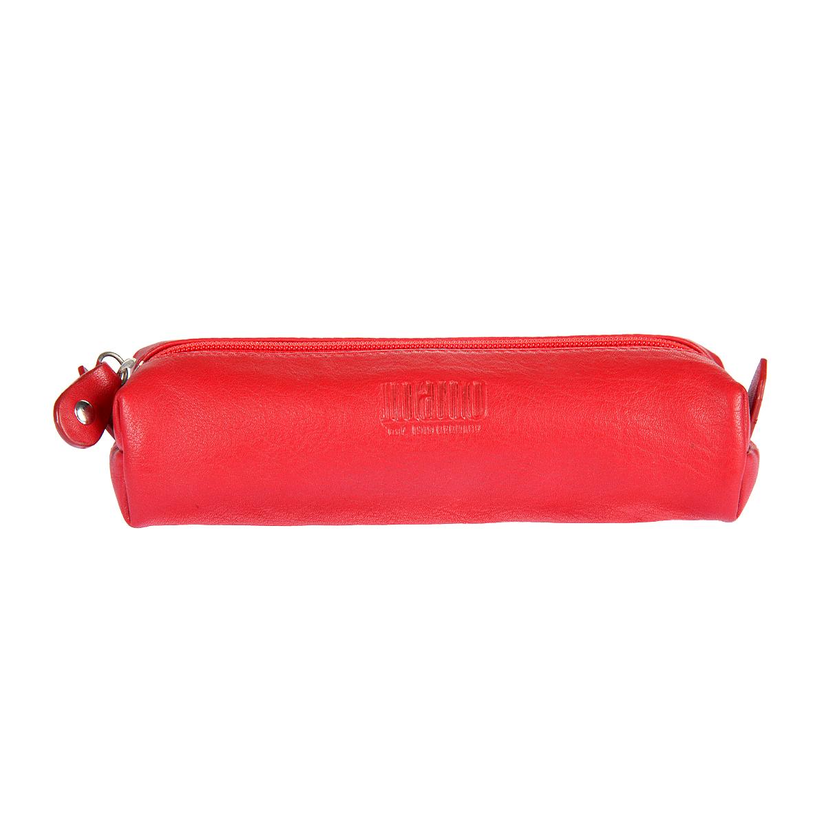 Ключница женская Mano, цвет: красный. 20110 RU red20110 RU redЗакрывается на молнию внутри одел, в котором два кольца для ключей