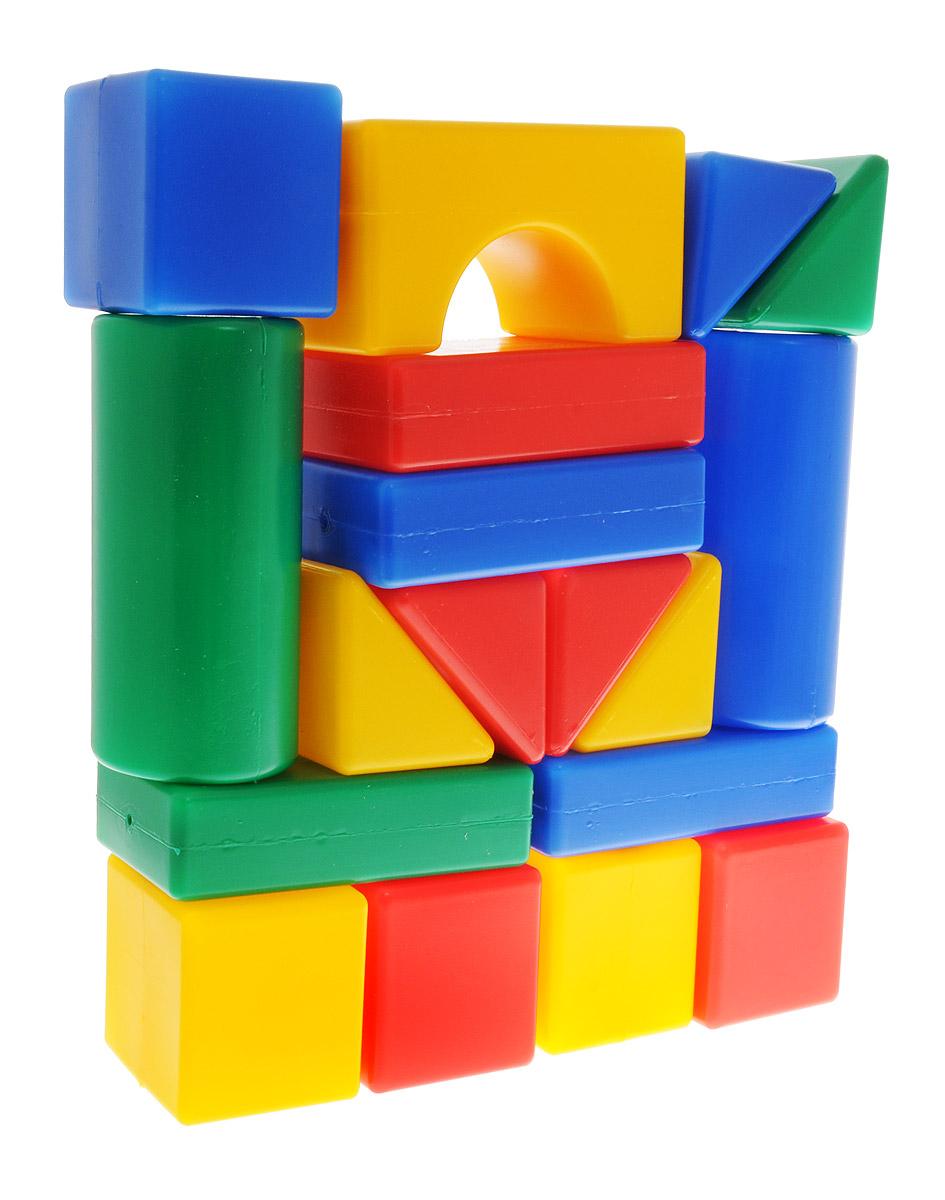 ГринПласт Конструктор Маша и Медведь Давай строить GT5528GT5528Яркий конструктор Маша и Медведь. Давай строить! привлечет внимание вашего ребенка и не позволит ему скучать. Это яркие, вариативные по форме и размерам детали, которые могут послужить материалом для создания целого городка, домика и всего, что ему подскажет фантазия. Из кубиков можно построить оригинальные здания и башни, выдумывать новые игры и формы. Элементы конструктора крупные, поэтому ребенку будет легко и удобно играть с ними. Все элементы изготовлены из высококачественных материалов, которые абсолютно безопасны для ребенка. Конструктор состоит из 18 крупных деталей. Игра с конструктором поможет ребенку научиться соотносить форму и величину предметов, развить мелкую моторику рук, логическое и пространственное мышление и творческие способности, а также поспособствует развитию концентрации внимания и усидчивости.