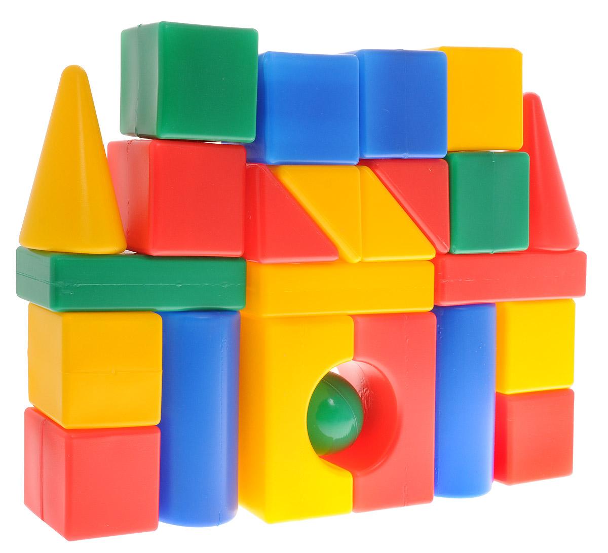 ГринПласт Конструктор Мой Городок КСТ0024КСТ0024Яркий конструктор Мой городок привлечет внимание вашего ребенка и не позволит ему скучать. Это яркие, вариативные по форме и размерам детали, которые могут послужить материалом для создания целого городка, домика и всего, что ему подскажет фантазия. Из кубиков можно построить оригинальные здания и башни, выдумывать новые игры и формы. Элементы конструктора крупные, поэтому ребенку будет легко и удобно играть с ними. Все элементы изготовлены из высококачественных материалов, которые абсолютно безопасны для ребенка. Конструктор состоит из 24 крупных деталей. Игра с конструктором поможет ребенку научиться соотносить форму и величину предметов, развить мелкую моторику рук, логическое и пространственное мышление и творческие способности, а также поспособствует развитию концентрации внимания и усидчивости.