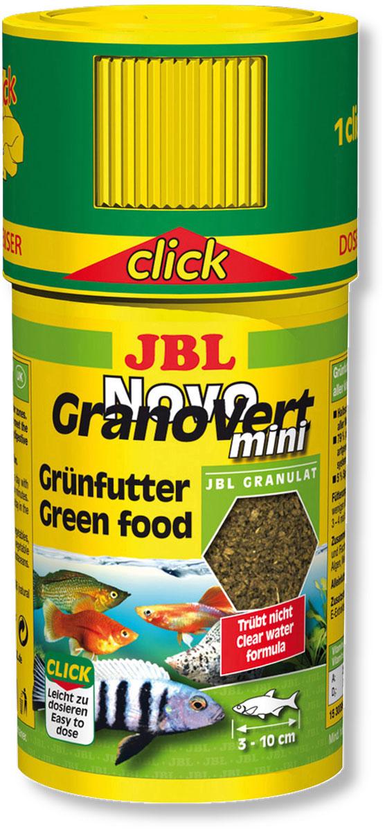 Корм JBL NovoGranoVert mini для маленьких аквариумных рыб, в форме мини-гранул, 100 мл (35 г)JBL3009600Корм JBL NovoGranoVert mini содержит высокоценные растительные вещества и растительные волокна, предназначенные для кормления растительноядных аквариумных рыб. Корм изготовлен по щадящей технологии высокотемпературной пастеризации и обладает высокими питательными свойствами. Часть гранул медленно погружается в воду, а часть некоторое время плавает на поверхности. Благодаря этому рыбы, обитающие в разных слоях воды, могут поглощать корм, предназначенный специально для них. Сбалансированная смесь всех важнейших элементов, таких как белки, жиры и углеводы, а также жизненно необходимые минералы и витамины обеспечивают здоровый рост и повышают сопротивляемость организма рыб заболеваниям. Крышка с дозатор облегчает кормление рыб 1 нажатие дозатора - корм для пяти рыб. Рекомендации по кормлению: кормление 2-3 раза в день в объеме, который может быть съеден рыбами в течение нескольких минут. Мальков соответственно следует кормить чаще. Превосходно подходит для автоматических...