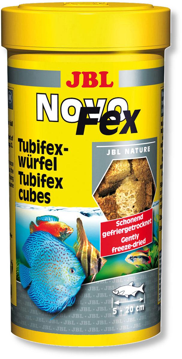 Корм JBL NovoFex для всех аквариумных рыб, 100 мл (10 г)JBL3062000Корм JBL NovoFex представляет собой идеальное дополнение в меню для всех аквариумных рыб и содержит, благодаря высушиванию по технологии вакуумной заморозки, все питательные вещества живого корма. Корм охотно поедается даже очень разборчивыми видами рыб и является полезным лакомством, обитающих в аквариумах с пресной и морской водой и в прудах. Высокое содержание белка и ненасыщенных жирных кислот обеспечивает здоровый рост молодняка. Идеальный размер корма для рыб от 5 до 20 см. Рекомендации по применению: 2-3 раза в день в количестве которое съедается рыбками за 2-3 минуты. Состав: белок 60%, жир 23%, клетчатка 2%, зола 8%. Вес: 10 г. Товар сертифицирован.