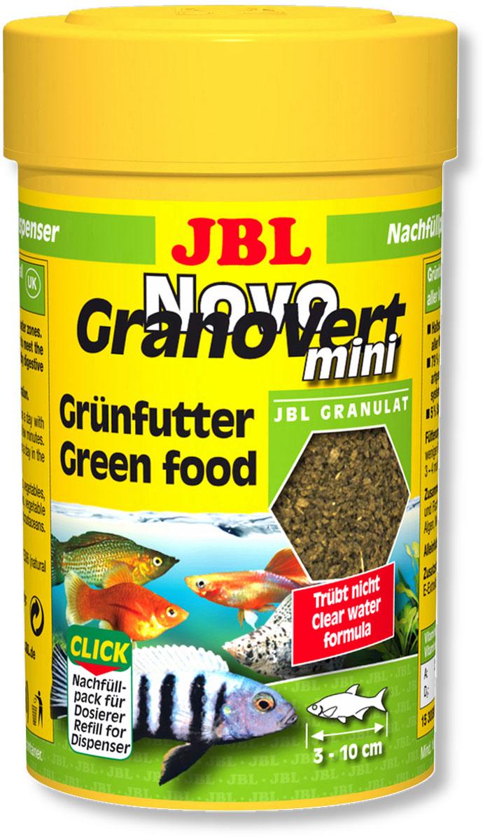 Корм JBL NovoGranoVert mini Refill для маленьких аквариумных рыб, в форме мини-гранул, 100 мл (40 г)JBL3009500Корм JBL NovoGranoVert mini Refill содержит высокоценное природное сырье, а также растительные волокна, которые подобраны специально для аквариумных рыб, питающихся растениями. Корм изготовлен по сберегающей технологии высокотемпературного нагрева и содержит большое количество питательных элементов. Часть гранул медленно погружается под воду, а часть некоторое время плавает на поверхности. Это дает возможность кормить рыб, находящихся в различных зонах аквариума. Четко выверенная комбинация из всех важных компонентов, таких как белки, жиры и углеводы, а также жизненно важные минералы и витамины обеспечивают здоровый рост рыб и повышенную сопротивляемость болезням. Идеальный размер корма для рыб от 3 до 10 см. Рекомендации по кормлению: два или три раза в день в таком количестве, которое может быть съедено рыбами в течение нескольких минут. Замечательно подходит для автоматических кормушек. Состав: белок 30%, жир 4%, клетчатка 6%, зола 9%, фосфор...