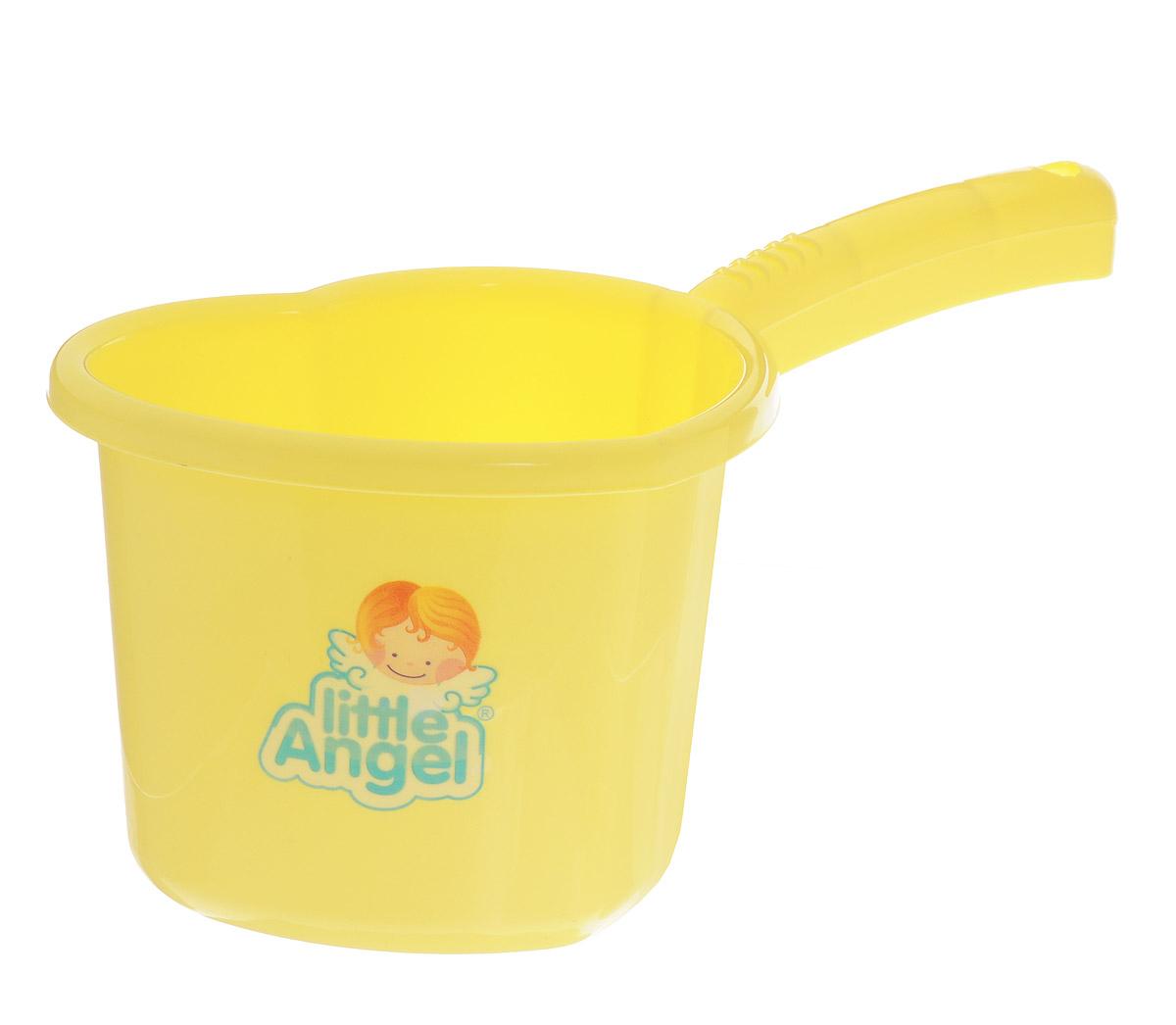 Little Angel Ковшик для детской ванночки цвет желтыйLA1022ЖТ_желтыйУдобный ковшик Little Angel станет надежным помощником при купании малыша с первых дней жизни. Ковшик в форме сердечка выполнен из безопасного пластика без содержания токсичных элементов. Ковш снабжен носиком, чтобы бережно поливать малыша и длинной ручкой с рельефными насечками. Благодаря насечкам ручка не будет проскальзывать в ладони.