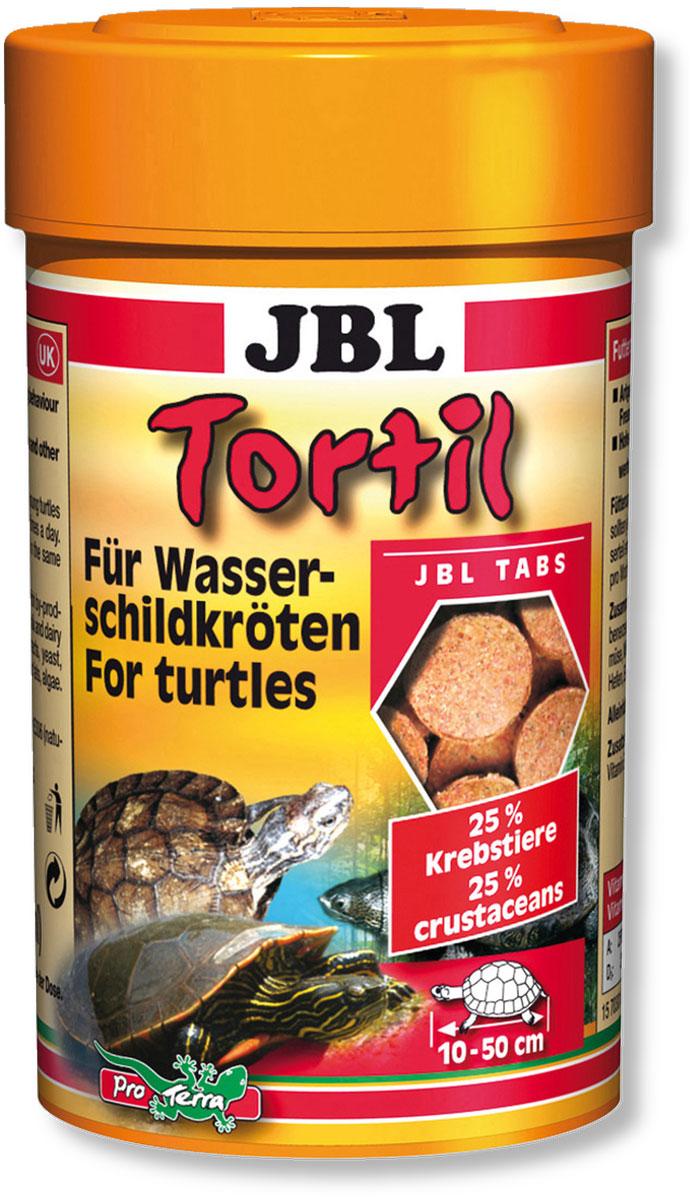 Корм JBL Tortil для водных черепах, в форме таблеток, 100 мл (60 г)JBL7030100Корм JBL Tortil состоит из смеси высокоценных натуральных веществ, отвечающей питательным потребностям водяных черепах. Таблетки медленно опускаются на дно, способствуя более естественному поведению черепах во время поиска корма и его поглощения. Идеальный размер корма для черепах от 10 до 50 см. Рекомендации по кормлению: молодые, еще растущие черепахи должны получать, в зависимости от их размера, по 3-10 таблеток 2-4 раза в день. Для взрослых черепах достаточно 4-5 кормлений таблетками в неделю аналогичным образом. Состав: белок 43%, жиры 8%, клетчатка 1,9%, чистая зола 8,1%, витамин А 25000 I.E., витамин D3 2000 I.E., витамин Е 330 мг., витамин C 400 мг., инозитол 400 мг. Вес: 60 г. Количество таблеток 160 шт. Товар сертифицирован.