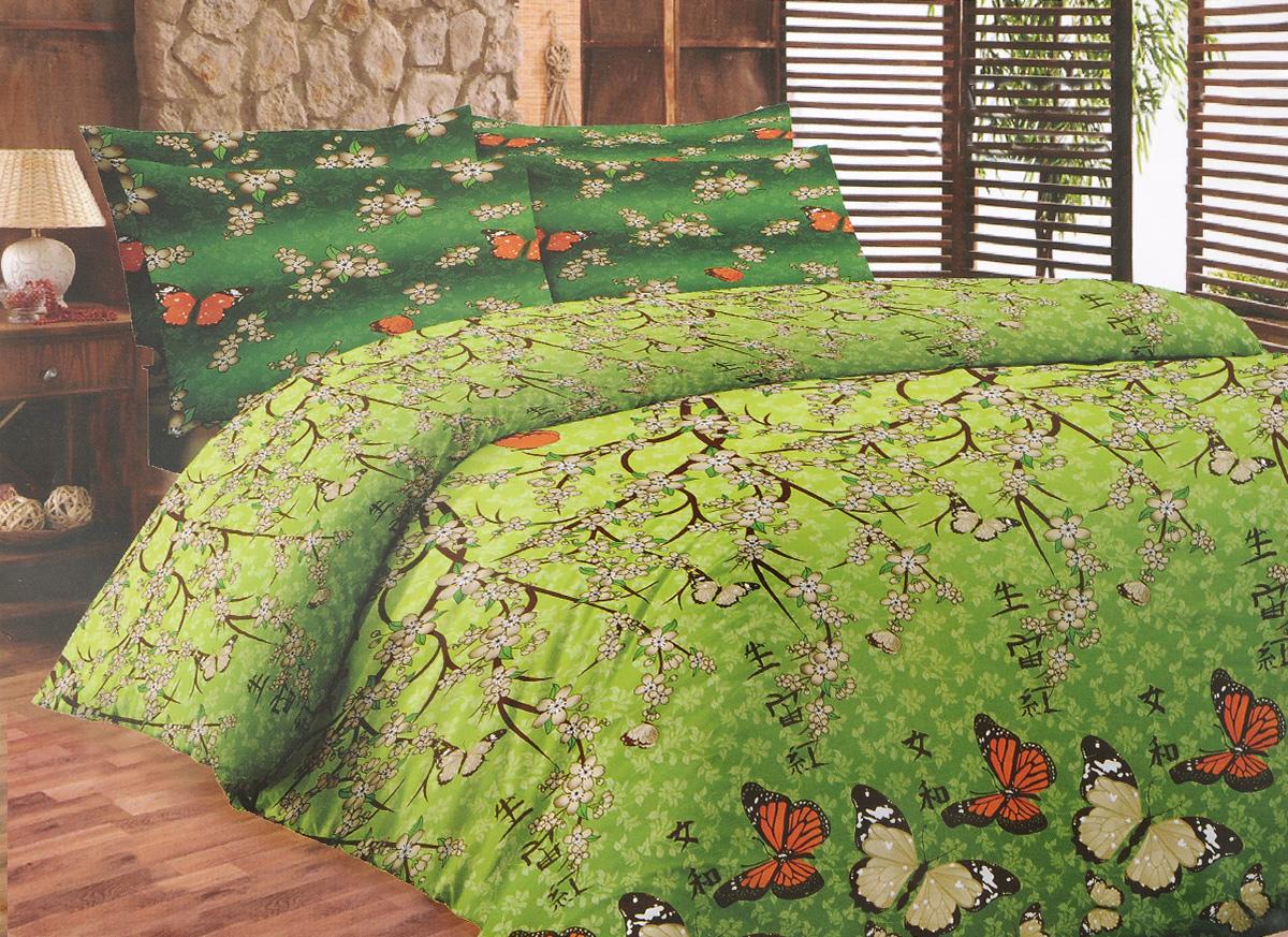 Комплект белья Liya Home Collection Ветка сакуры, 2-спальный с евро простыней, наволочки 70x70120001553Комплект белья Liya Home Collection Ветка сакуры состоит из пододеяльника, простыни и двух наволочек. Изделия выполнены из хлопка (70%) и полиэстера (30%). Хлопок является классическим примером гигроскопичности, гигиеничности, натуральности и простоты. Сочетание его с полиэстером лишает ткань присущих хлопку недостатков. Изделия из хлопка с полиэстером не выгорают, не растягиваются, дольше используются. Постельное белье из хлопка с полиэстером имеет двукратную продолжительность эксплуатации, по сравнению с чистым хлопком, оно не мнется и сохнет очень быстро.