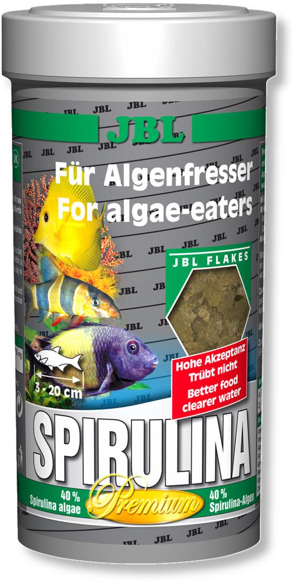 Корм JBL Spirulina для рыб, в форме хлопьев, 250 мл (40 г)JBL3000100Корм JBL Spirulina для пресноводных и морских водорослеедов. Корм содержит водоросли, высушенные распылением (Spirulina platensis), растительное сырье и растительные волокна, а также небольшой процент животного белка, который соответствует питательным потребностям пресноводных и морских водорослеедов (например, живородящие в пресной воде и рыба-доктор в морской воде). При поедании водорослей эти рыбы потребляют одновременно и маленьких животных (2% креветок). Свыше 4000 жизненно важных веществ водоросли спирулина, а также ценные каротиноиды поддерживают здоровье и способствуют образованию и сохранению яркой окраски рыб. Жизненно необходимые витамины и минеральные вещества обеспечивают здоровый рост и укрепляют иммунитет. Чеснок (1%) укрепляет здоровье. Идеальный размер корма для рыб от 3 до 20 см. Рекомендации по кормлению: два или три раза в день порциями, которые могут быть съедены рыбами в течение нескольких минут. Мальков кормить чаще. Состав: водоросли...