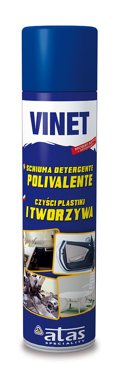 Очиститель пластика и искуственной кожи Atas Vinet, 400 мл6712Концентрированное щелочное моющее средство для тщательной чистки пластика, искусственной кожи с восстановлением цвета, не образует пены, поэтому можно не смывать.