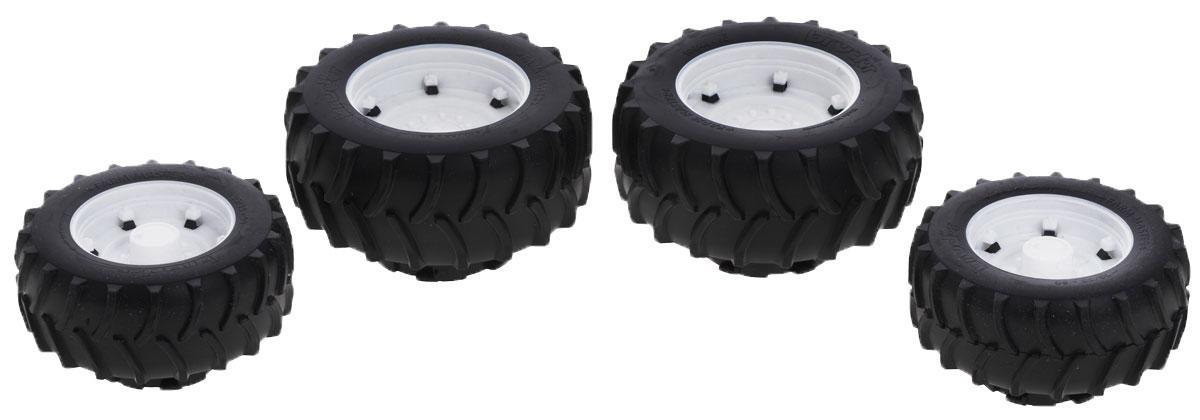 Bruder Шины для системы сдвоенных колес 4 шт03-301Шины для системы сдвоенных колес Bruder выполнены в точной копии с реальной моделью в масштабе 1:16. Они предназначены для модернизации тракторов серии Premium Pro, а также Profi, особенно 03000 серии. Крепление осуществляется через адаптер. Предназначены для самостоятельной установки на следующие модели: 03-010, 03-011, 03-020, 03-021, 03-040, 03-041, 03-042, 03-050, 03-052, 03-051, 03-053, 03-055, 03-060, 03-070, 03-084, 03-080, 03-086, 03-095, 03-096, 03-090, 03-091, 03-092, 03-093 Диаметр задних шин: 12,5 см Диаметр передних шин: 9,8 см