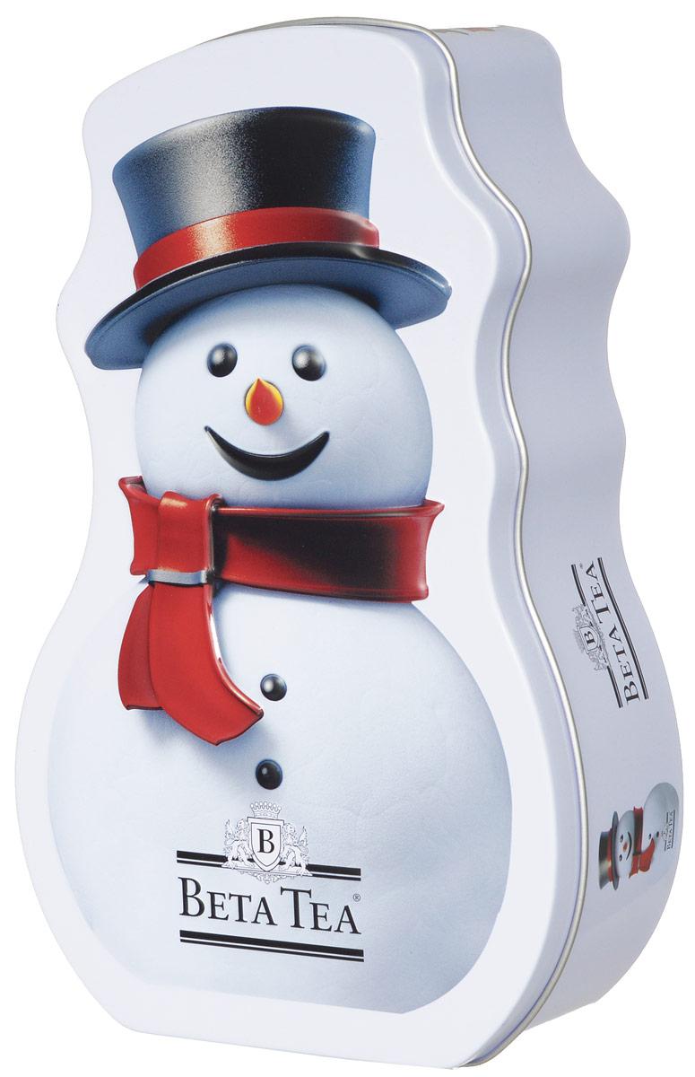 Beta Tea Снеговик чай черный листовой, 125 г8690717001746Превосходный черный цейлонский чай Beta Tea в новогодней подарочной упаковке в форме снеговика. Отлично подойдет в качестве подарка на новогодние праздники.