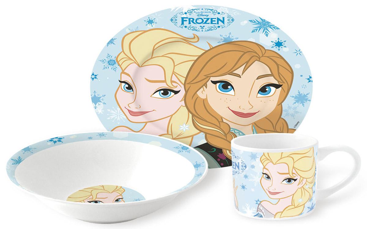 Disney Frozen Набор детской посуды 3 предмета78765Набор детской посуды Disney Frozen, 3 предмета: кружка 210 мл, миска 18 см, тарелка 19 см.