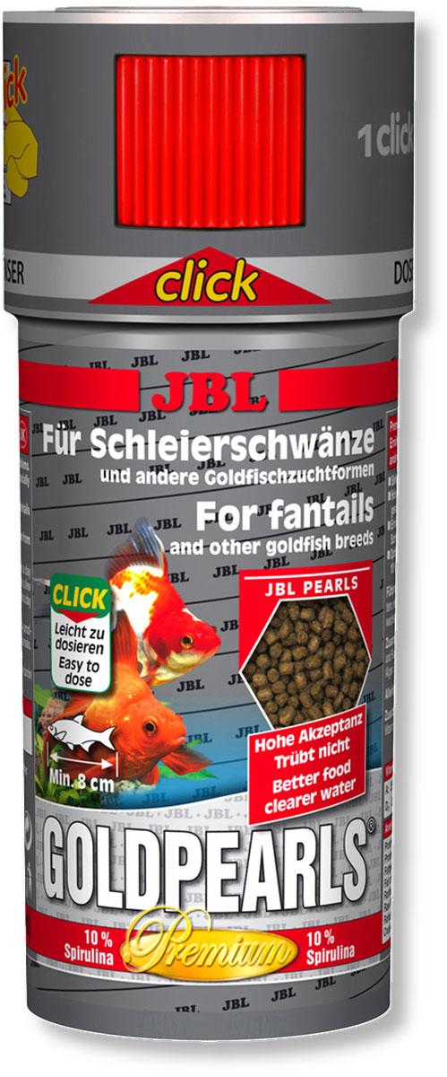 Корм JBL GoldPearls Click для вуалехвостых и других декоративных золотых рыб, в форме гранул, 250 мл (145 г)JBL4063100Корм JBL GoldPearls Click содержит комбинацию питательных элементов, для разных аквариумных золотых рыбок в форме жемчужин, которая наилучшим образом соответствует их питанию. В корме содержится высокая доля животного и растительного белков из зародышей пшеницы, рыбы и сои. 10% спирулина, зародыши пшеницы и растительное сырье укрепляют здоровье рыбок. Витамины, жирные кислоты с каротиноидами усиливают иммунитет и рост. Высокий % растительного протеина, дрожжей, овощей, рыбы и побочные рыбные продукты, рачки, водоросли. Корм поставляется в банке с дозатором для точного дозирования гранул. Идеальный размер корма для рыб от 8 см. Рекомендации по кормлению: два или три раза в день порциями, которые могут быть съедены рыбами в течение нескольких минут. Состав: клетчатка 4%, жир 5%, белок 41%, зола 11%, витамин А 25000 i.E., витамин 200 мг., витамин Е 300 мг., витамин D3 2000 i.E. Вес: 145 г. Товар сертифицирован.