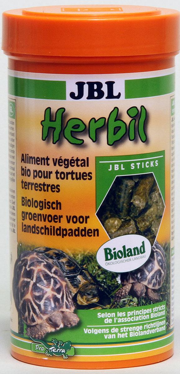 Корм JBL Herbil для сухопутных черепах, в форме гранул, 250 мл (165 г)JBL7045200Корм JBL Herbil для сухопутных черепах с пометкой Bioland. Состоит из трав, выращенных под руководством общества Bioland. Продукт высшего качества для кормления любых сухопутных черепах. Гранулы диаметром 6 мм, которые черепахи охотно поедают сухими или предварительно размоченными. Рекомендации по кормлению: Молодым черепашкам давать корм 2-3 раза в день в таком объеме, который они в состоянии съестьв течении 10 мин. Взрослым черепашкам достаточно до 5 кормлений в неделю в аналогичном объеме. Состав: белок 12%, жиры 4%, клетчатка 21%, чистая зола 11%, фосфор 0,34%, кальций 0,85%, злаки и травы 100%. Вес: 165 г. Товар сертифицирован.