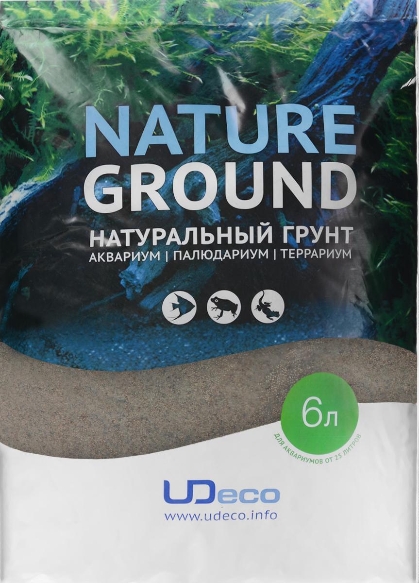 Грунт для аквариума UDeco Коричневый песок, натуральный, 0,1-0,6 мм, 6 лUDC410316Натуральный грунт UDeco Коричневый песок предназначен специально для оформления аквариумов, палюдариумов и террариумов. Изделие готово к применению. Грунт UDeco порадует начинающих любителей природы и самых придирчивых дизайнеров, стремящихся к созданию нового, оригинального. Такая декорация придутся по вкусу и обитателям аквариумов и террариумов, которые ещё больше приблизятся к природной среде обитания. Необходимое количество грунта рассчитывается по формуле: длина аквариума х ширина аквариума х толщина слоя грунта. Предназначен для аквариумов от 25 литров. Фракция: 0,1-0,6 мм. Объем: 6 л.