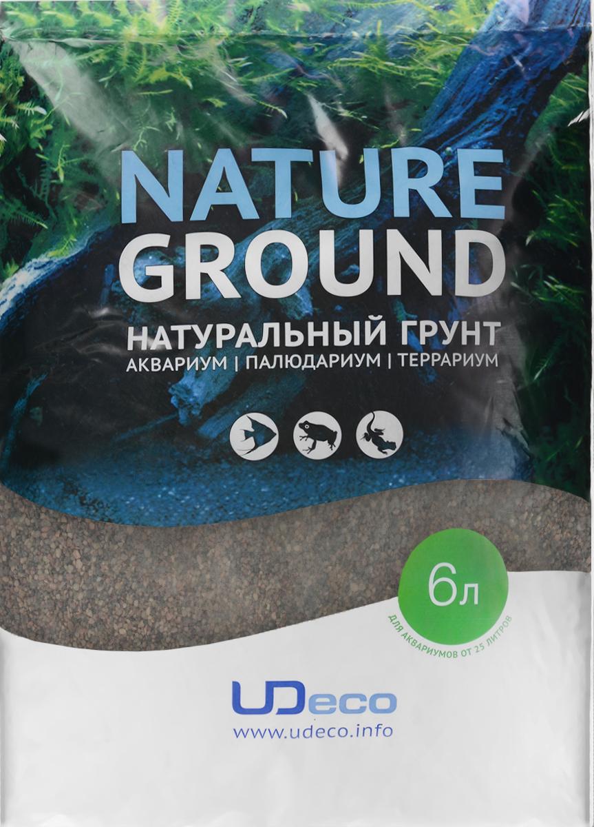 Грунт для аквариума UDeco Коричневый песок, натуральный, 0,6-2,5 мм, 6 лUDC410326Натуральный грунт UDeco Коричневый песок предназначен специально для оформления аквариумов, палюдариумов и террариумов. Изделие готово к применению. Грунт UDeco порадует начинающих любителей природы и самых придирчивых дизайнеров, стремящихся к созданию нового, оригинального. Такая декорация придутся по вкусу и обитателям аквариумов и террариумов, которые ещё больше приблизятся к природной среде обитания. Необходимое количество грунта рассчитывается по формуле: длина аквариума х ширина аквариума х толщина слоя грунта. Предназначен для аквариумов от 25 литров. Фракция: 0,6-2,5 мм. Объем: 6 л.