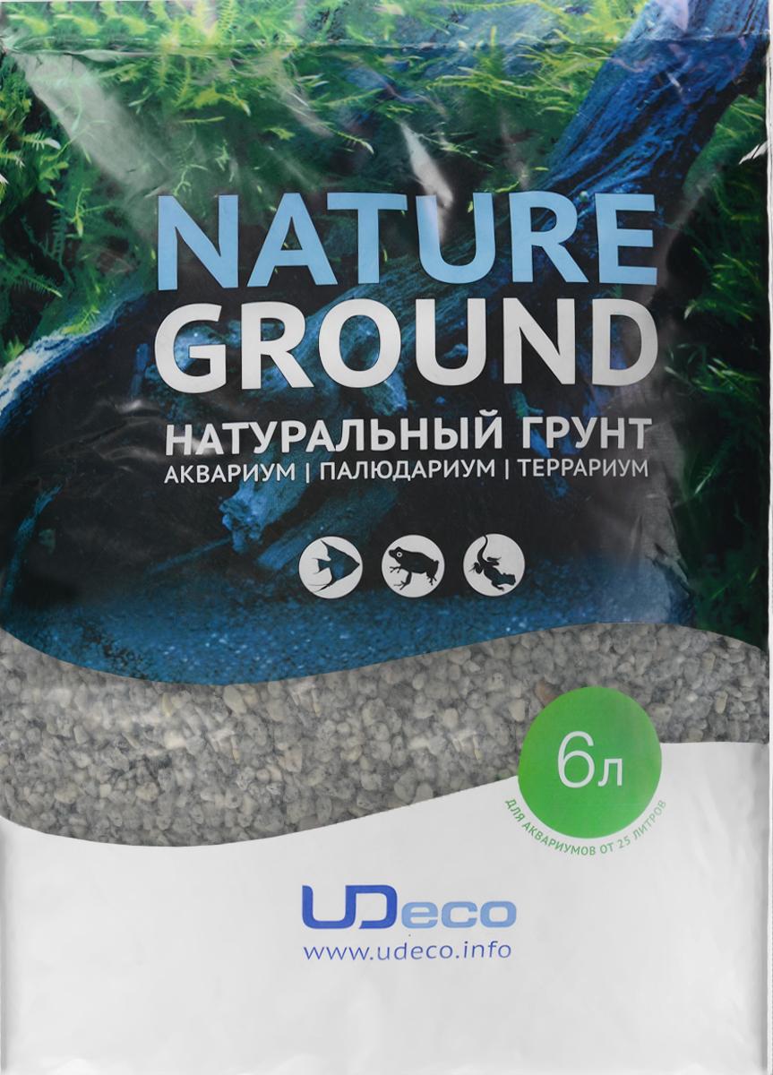 Грунт для аквариума UDeco Серый гравий, натуральный, 4-6 мм, 6 лUDC420256Натуральный грунт UDeco Серый гравий предназначен специально для оформления аквариумов, палюдариумов и террариумов. Изделие готово к применению. Грунт UDeco порадует начинающих любителей природы и самых придирчивых дизайнеров, стремящихся к созданию нового, оригинального. Такая декорация придутся по вкусу и обитателям аквариумов и террариумов, которые ещё больше приблизятся к природной среде обитания. Необходимое количество грунта рассчитывается по формуле: длина аквариума х ширина аквариума х толщина слоя грунта. Предназначен для аквариумов от 25 литров. Фракция: 4-6 мм. Объем: 6 л.