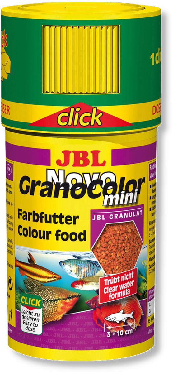 Корм JBL NovoGranoColor mini для естественного усиления цвета маленьких рыб, в форме мини-гранул, 100 мл (43 г)JBL3009800Корм JBL NovoGranoColor mini содержит высокоценное природное сырье, каротиноилды и ненасыщенные жирные кислоты, которые естественным путем способствуют улучшению цветовой окраски всех аквариумных рыб. Корм изготовлен по щадящей технологии с использованием кратковременного высокотемпературного нагревания и содержит большое количество питательных элементов. Часть гранул медленно погружается под воду, а часть некоторое время плавает на поверхности. Это дает возможность кормить рыб, находящихся в различных зонах аквариума. Крышка с мини-дозатором может быть просто навинчена на банку. Идеальный размер корма для рыб от 3 до 10 см. Рекомендации по кормлению: два или три раза в день порциями, которые могут быть съедены рыбами в течение нескольких минут. Состав: моллюски и ракообразные 24,88%, злаки 23,43%, рыба и рыбные побочные продукты 19,51%, растительные побочные продукты 12,47%, овощи 10,25%, экстракты растительного белка...
