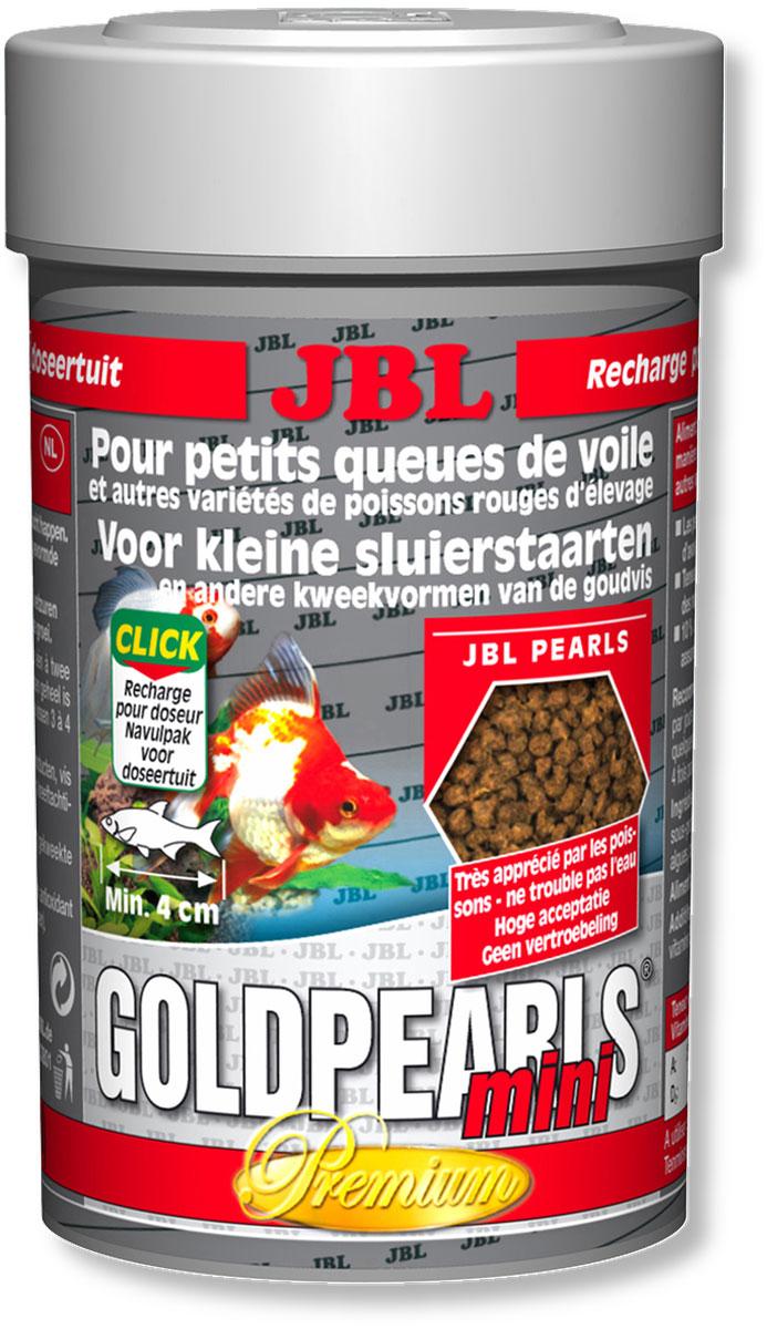 Корм JBL GoldPearls mini для маленьких вуалехвостых и других декоративных золотых рыб, в форме гранул, 100 мл (56 г)JBL4064480Корм JBL GoldPearls mini класса премиум в форме гранул для вуалехвостых и других декоративных золотых рыб. Корм специально приспособлен к потребностям этих рыб, содержит высокую долю растительного и животного белка из зародышей пшеницы, сои и рыб. Высокоценные вещества водоросли спирулины, а также зародышей пшеницы и различное растительное сырье укрепляют здоровье рыб. Жизненно важные витамины, ненасыщенные жирные кислоты и каротиноиды укрепляют иммунитет и обеспечивают здоровый рост. Кормить можно несколько раз в день, маленькими порциями, которые съедаются за несколько минут. Идеальный размер корма для рыб от 4 см. Состав: белок 41%, жир 5%, клетчатка 4%, зола 11%; Содержание витаминов в 1000 г.: витамин А 25000 i.E., витамин D3 2000 i.E., витамин Е 300 мг., витамин С 200 мг. Вес: 56 г. Товар сертифицирован.