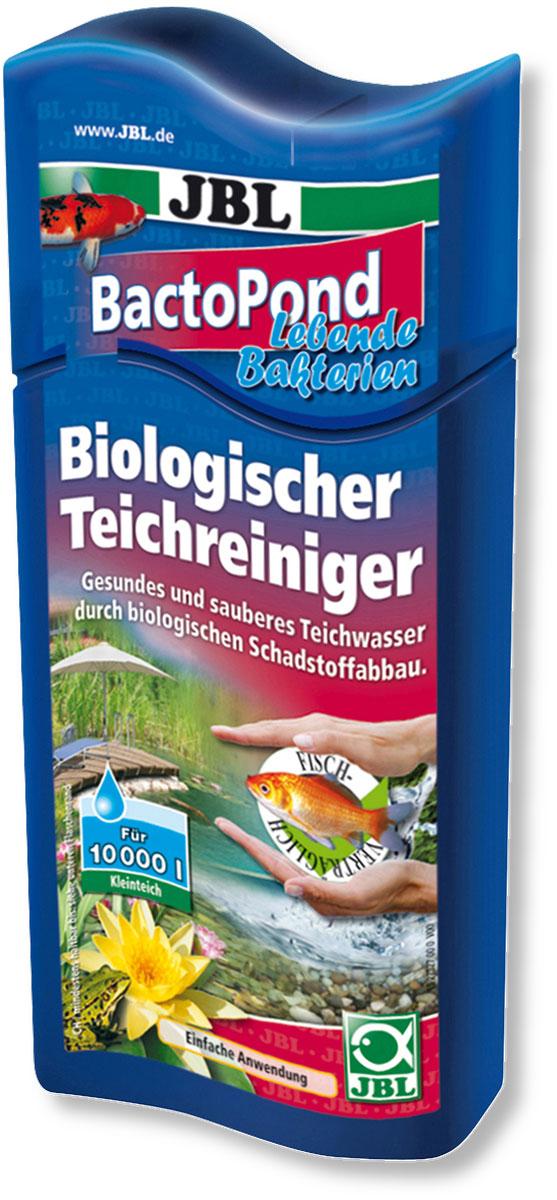 Средство JBL BactoPond, для биологической очистки прудовой воды, 500 мл на 10000 л водыJBL2732700Средство JBL BactoPond очищает воду в пруду благодаря биологическому расщеплению вредных веществ. Живые бактерии устраняют белок, аммоний/аммиак и нитрит. Помогает сохранить численность рыб. Сокращает рост водорослей благодаря устранению избыточных питательных веществ. Бутылка и крышка оснащены мерными делениями. Применение: 40 мл на 700–800 л прудовой воды.
