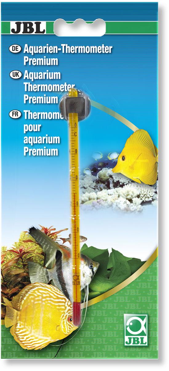 Термометр аквариумный JBL Premium, с точностью измерения 0,5°С, длина 14,5 смJBL6140700Термометр JBL Premium предназначен для измерения температуры воды в аквариуме с точностью 0,5°С. Термометр крепится к стенке аквариума на ровную поверхность с помощью присоски. Удобная шкала, позволяет легко считывать показания. Измеряемая температура от 0°C до +50°C. Длина термометра: 14,5 см.