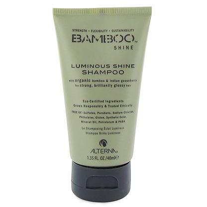 Alterna Bamboo Luminous Shine Shampoo - Шампунь для сияния и блеска волос 40 мл (безсульфатный)46020.IОрганическое масло Индийского Крыжовника и экстракт бамбука, входящие в состав шампуня Bamboo Luminous Shine Shampoo помогут оптимально увлажнить и укрепить волосы, делая их гладкими, сильными и шелковистыми. Технология Color Hold® позволит Вашим окрашенным волосам дольше сохранять цвет, не вымывая его. Идеально подходит для светлых волос. Результат: Очищает волосы без использования сульфатов. Оптимально увлажняет волос. Укрепляет волосы, закладывает основу для гладких и здоровых волос. Сохраняет яркость цвета окрашенных и натуральных волос. Улучшает внешний вид волос. Разглаживает волосы, придает им гладкость и блеск.