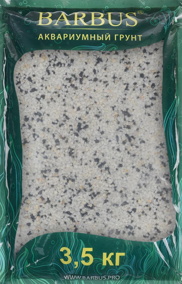 Грунт для аквариума Barbus Микс, натуральный, цвет: черный, белый, 2-5 мм, 3,5 кгGRAVEL 026/3,5Натуральный природный грунт в виде каменной крошки Barbus Микс прекрасно подходит для применения в пресноводных аквариумах, а также в палюдариумах и террариумах. Грунт является субстратом для укоренения водных растений и служит неотъемлемой частью естественной средой обитания аквариумных видов рыб. Идеален для цихлид и имеет нейтральный рН. Перед применением просто промыть. Предназначен для аквариумов до 20 литров. Фракция: 2-5 мм.