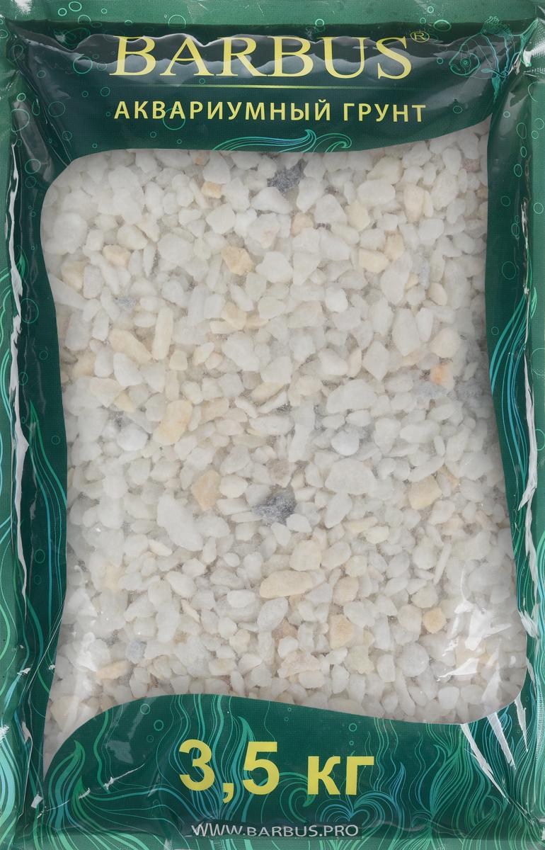 Грунт для аквариума Barbus, натуральный, мраморная крошка, цвет: белый, 5-10 мм, 3,5 кгGRAVEL 025/3,5Натуральный природный грунт в виде мраморной крошки Barbus прекрасно подходит для применения в пресноводных аквариумах, а также в палюдариумах и террариумах. Грунт является субстратом для укоренения водных растений и служит неотъемлемой частью естественной среды обитания аквариумных видов рыб. Нейтральный рН. Не выделяет в воду вредных веществ. Идеален для цихлид. Прошел специальную обработку. Рекомендуется перед использованием грунт промыть. Средняя норма засыпки пакета грунта рассчитана на 20 литров воды стандартных размеров аквариума. Фракция: 5-10 мм.