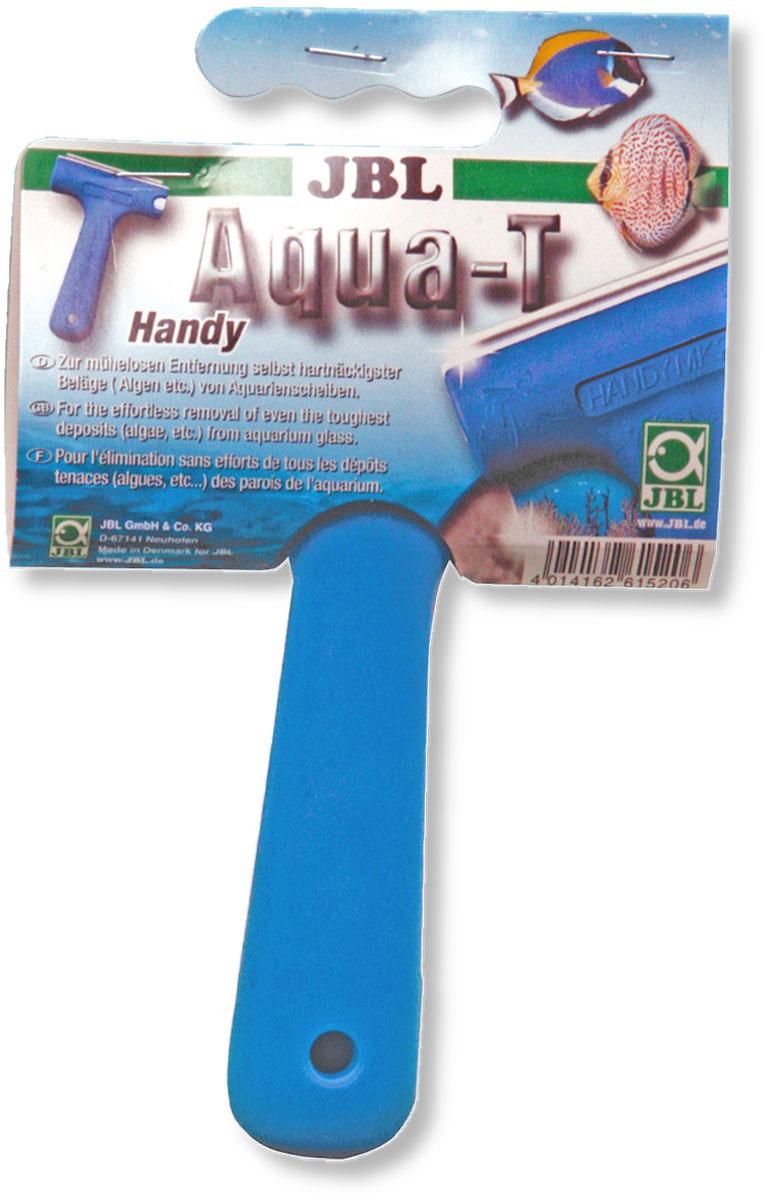 Стеклоочиститель аквариумный JBL Aqua-T Handy, со съемным лезвием, длина лезвия 7 смJBL6152000Скребок JBL Aqua-T Handy выполнен из высококачественного пластика. Он предназначен для быстрой и тщательной очистки стекол аквариума от налета и обрастаний. Изделие оснащено съемным стальным лезвием. Скребок позволяет осуществлять чистку даже в труднодоступных местах. В комплект входит защитный колпачок для лезвия. Общая длина скребка: 13,5 см. Длина лезвия: 7 см.