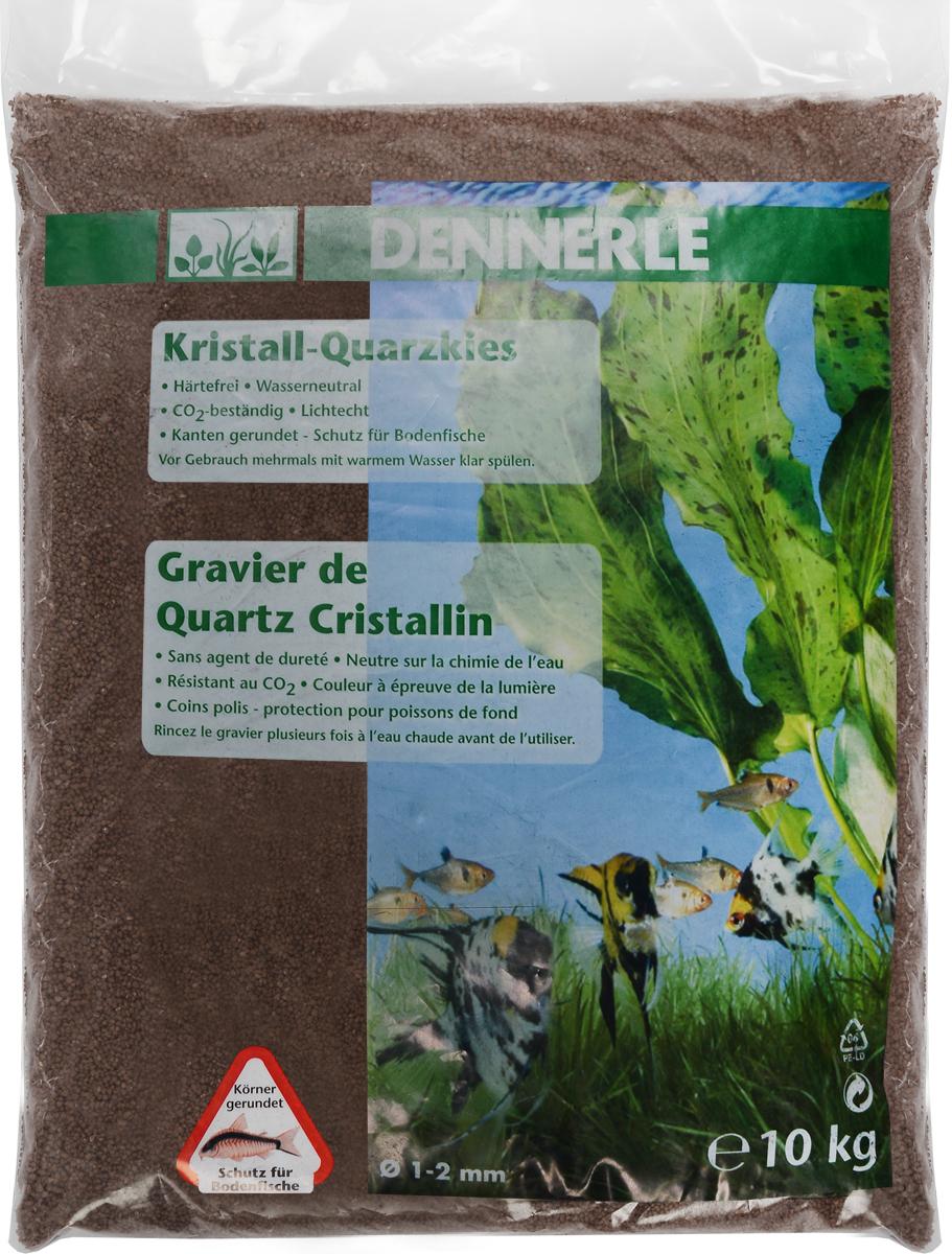 """Грунт для аквариума Dennerle """"Kristall-Quarz"""", натуральный, цвет: светло-коричневый, 1-2 мм, 10 кг DEN1732"""