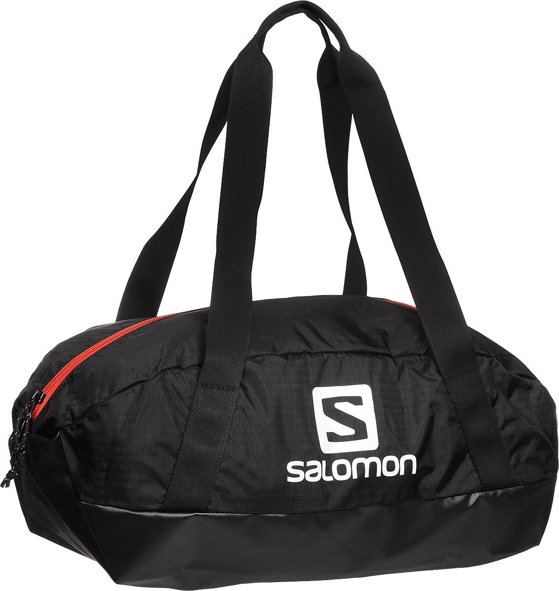 Сумка спортивная Salomon Prolog 25 Bag, цвет: черный, 25 л. L38002300L38002300Сумка Salomon Prolog 25 Bag выполнена из качественного полиэстера и оформлена принтом с изображением логотипа бренда. Сумка оснащена удобными ручками и закрывается на удобную застежку-молнию. Внутри расположено вместительное отделение, которое содержит небольшой вшитый карман на молнии для мелочей.