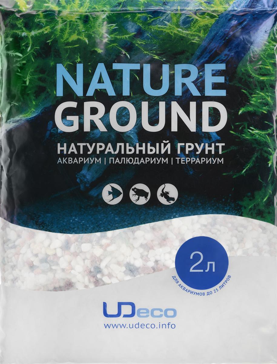 Грунт для аквариума UDeco Разноцветный гравий, натуральный, 4-6 мм, 2 лUDC420852Натуральный грунт UDeco Разноцветный гравий предназначен специально для оформления аквариумов, палюдариумов и террариумов. Изделие готово к применению. Грунт UDeco порадует начинающих любителей природы и самых придирчивых дизайнеров, стремящихся к созданию нового, оригинального. Такая декорация придутся по вкусу и обитателям аквариумов и террариумов, которые ещё больше приблизятся к природной среде обитания. Необходимое количество грунта рассчитывается по формуле: длина аквариума х ширина аквариума х толщина слоя грунта. Предназначен для аквариумов от 25 литров. Фракция: 4-6 мм. Объем: 2 л.