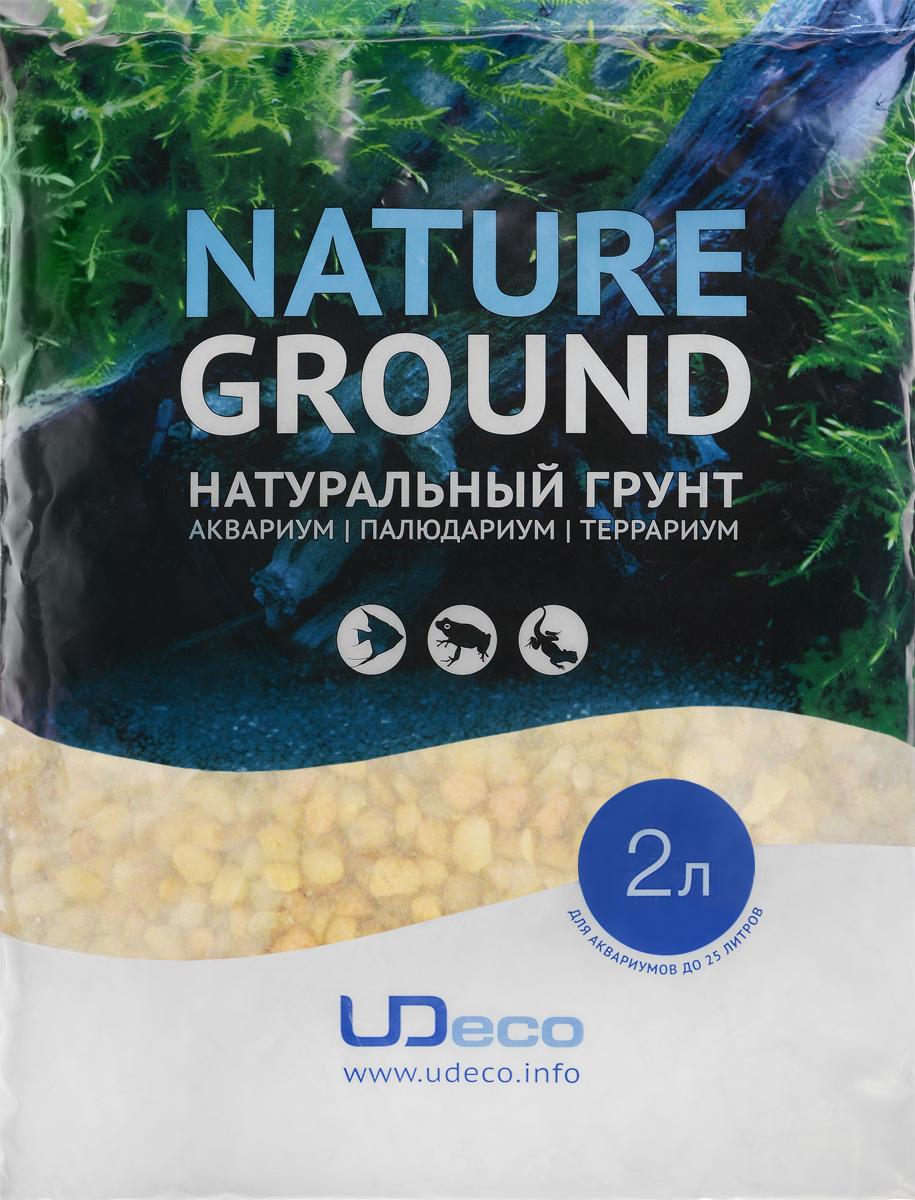 Грунт для аквариума UDeco Желтый гравий, натуральный, 6-9 мм, 2 лUDC410572Натуральный грунт UDeco Желтый гравий предназначен специально для оформления аквариумов, палюдариумов и террариумов. Изделие готово к применению. Грунт UDeco порадует начинающих любителей природы и самых придирчивых дизайнеров, стремящихся к созданию нового, оригинального. Такая декорация придутся по вкусу и обитателям аквариумов и террариумов, которые ещё больше приблизятся к природной среде обитания. Необходимое количество грунта рассчитывается по формуле: длина аквариума х ширина аквариума х толщина слоя грунта. Предназначен для аквариумов от 25 литров. Фракция: 6-9 мм. Объем: 2 л.
