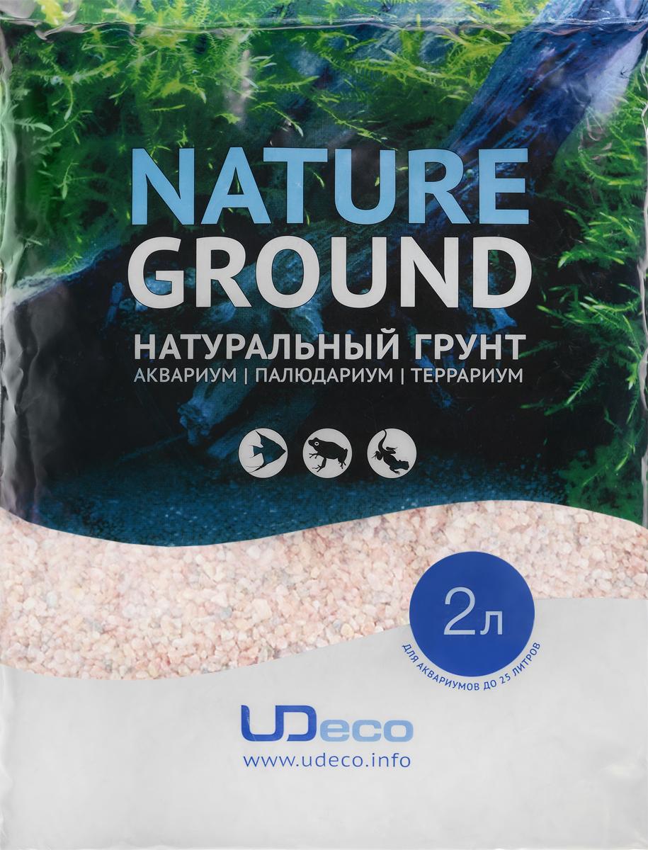 Грунт для аквариума UDeco Розовый гравий, натуральный, 3-4 мм, 2 лUDC410442Натуральный грунт UDeco Розовый гравий предназначен специально для оформления аквариумов, палюдариумов и террариумов. Изделие готово к применению. Грунт UDeco порадует начинающих любителей природы и самых придирчивых дизайнеров, стремящихся к созданию нового, оригинального. Такая декорация придутся по вкусу и обитателям аквариумов и террариумов, которые ещё больше приблизятся к природной среде обитания. Необходимое количество грунта рассчитывается по формуле: длина аквариума х ширина аквариума х толщина слоя грунта. Предназначен для аквариумов от 25 литров. Фракция: 3-4 мм. Объем: 2 л.