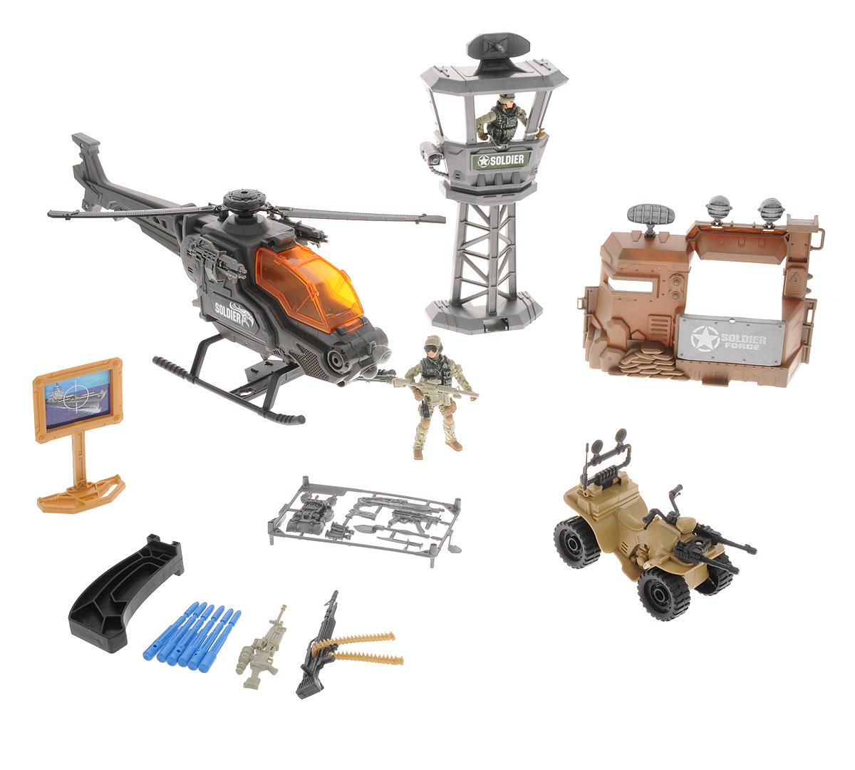 Chap Mei Игровой набор Армейская база с вертолетом