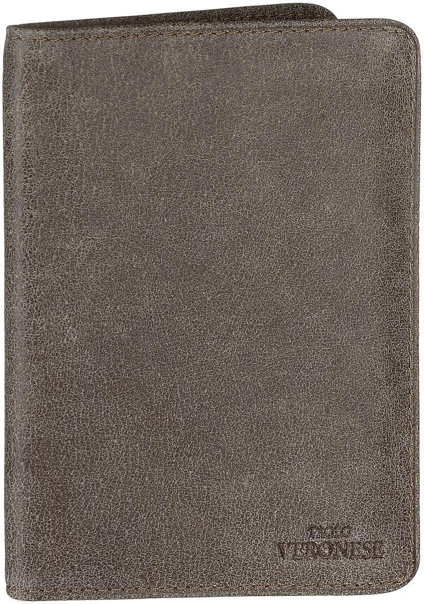 Обложка для паспорта мужская Paolo Veronese Альт, цвет: серо-коричневый. 7-57-NK39/O-057-A20-397-57-NK39/O-057-A20-39Обложка для паспорта Paolo Veronese Альт выполнена из натуральной кожи. Спереди модель дополнена небольшим тиснением с названием бренда. Внутри - захваты из пластика. Обложка не только поможет сохранить внешний вид ваших документов и защитить их от повреждений, но и станет модным аксессуаром, идеально подходящим вашему образу. Обложка для паспорта стильного дизайна может быть достойным и оригинальным подарком.