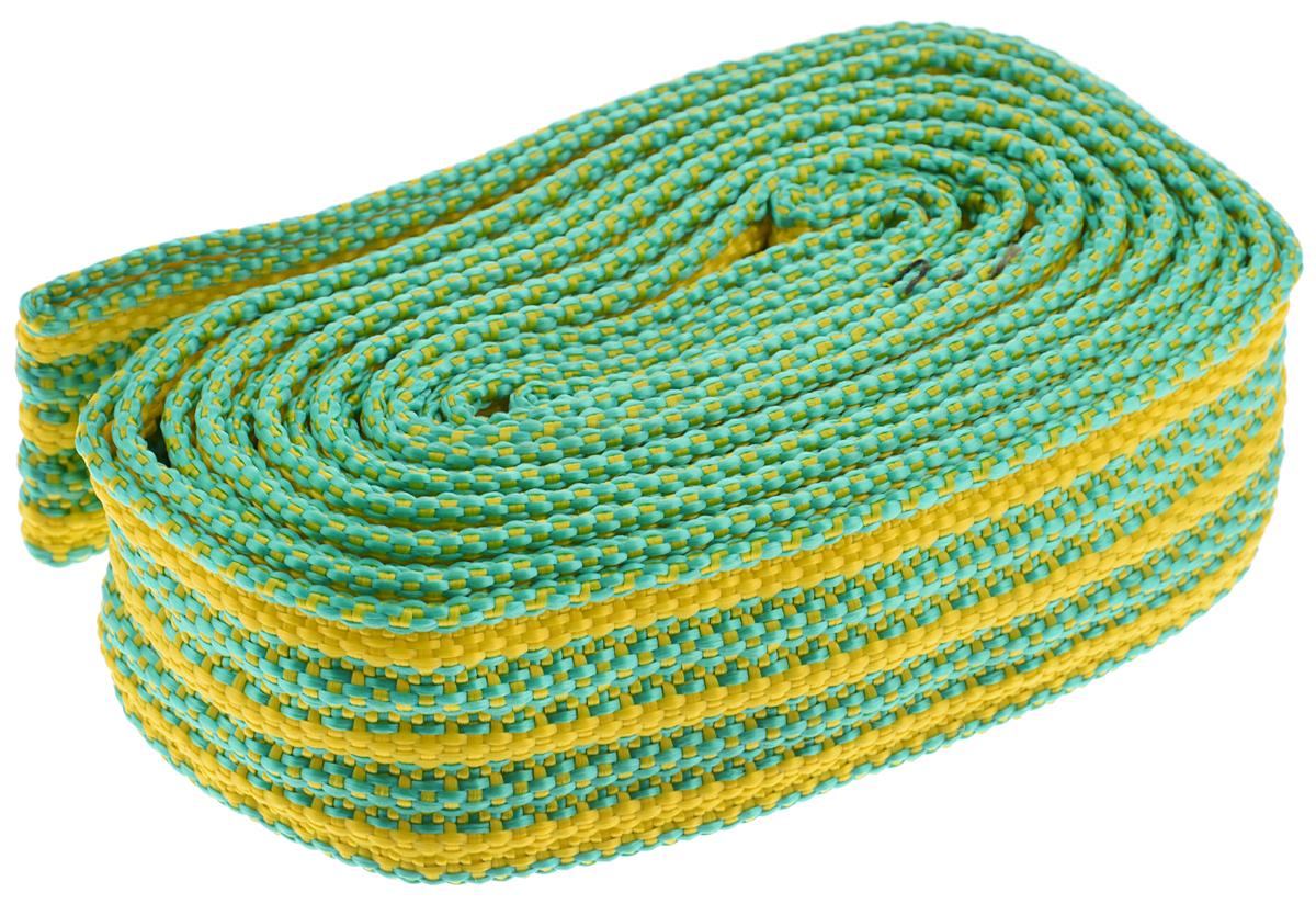 Трос буксировочный Azard, ленточный, цвет: зеленый, желтый, 3,5 т, 4,5 мТР000004_зеленый, желтыйБуксировочный трос Azard представляет собой ленту из сверхпрочной полиамидной (капроновой) нити. Специальное плетение ленты обеспечивает эластичность троса и плавный старт автомобиля при буксировке. На протяжении всего срока службы не меняет свои линейные размеры. Трос морозостойкий, влагостойкий и устойчив к агрессивным средами воздействию нефтепродуктов. Длина троса соответствует ПДД РФ. Буксировочный трос обязательно должен быть в каждом автомобиле. Он необходим на случай аварийной ситуации или если ваш автомобиль застрял на бездорожье. Максимальная нагрузка: 3,5 т. Длина троса: 4,5 м.